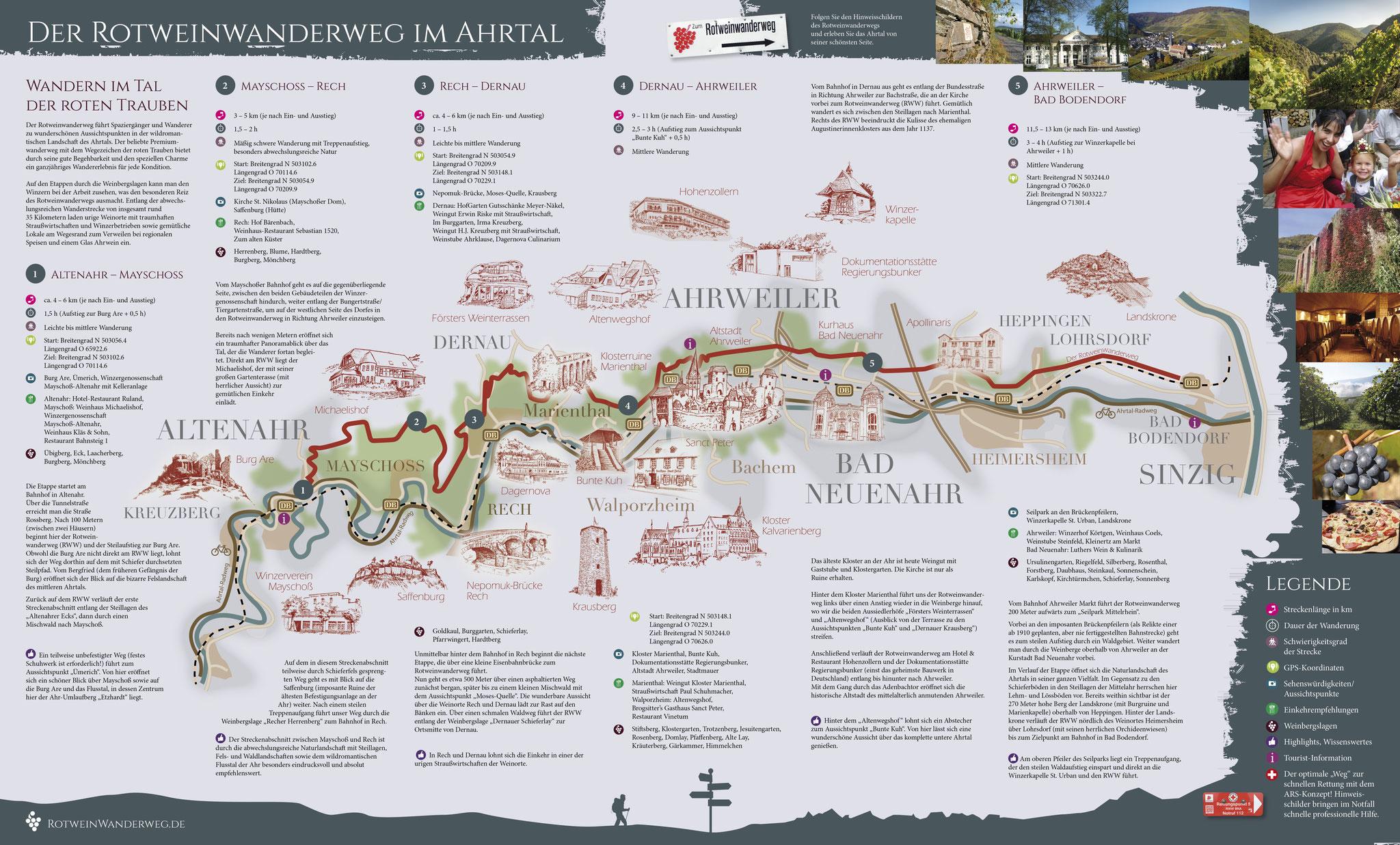 rotweinwanderweg karte Einmalige Präsentation der neuen Karte für den Rotweinwanderweg