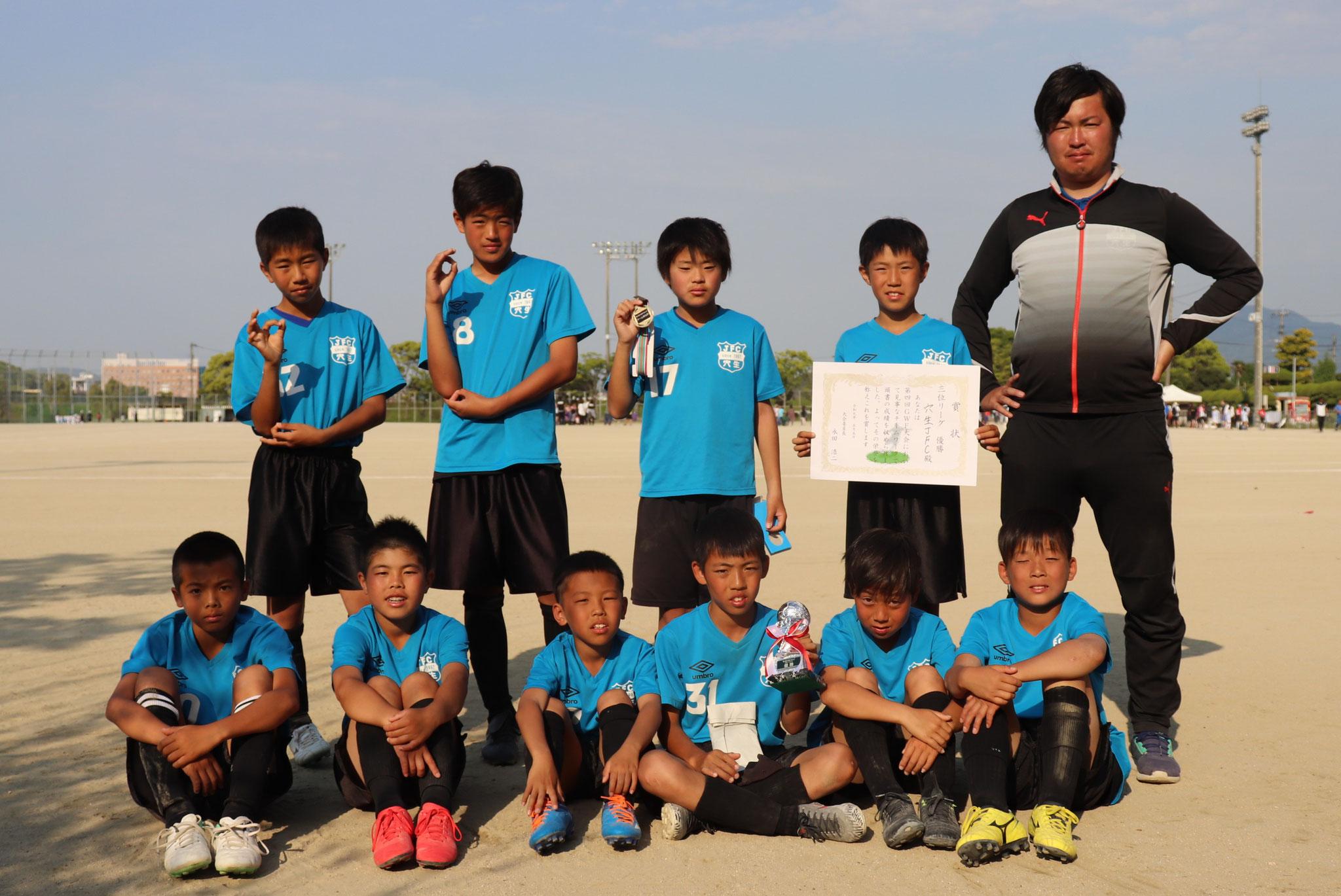 2019/5/5  U-12GWFカップ3位パート優勝!!!