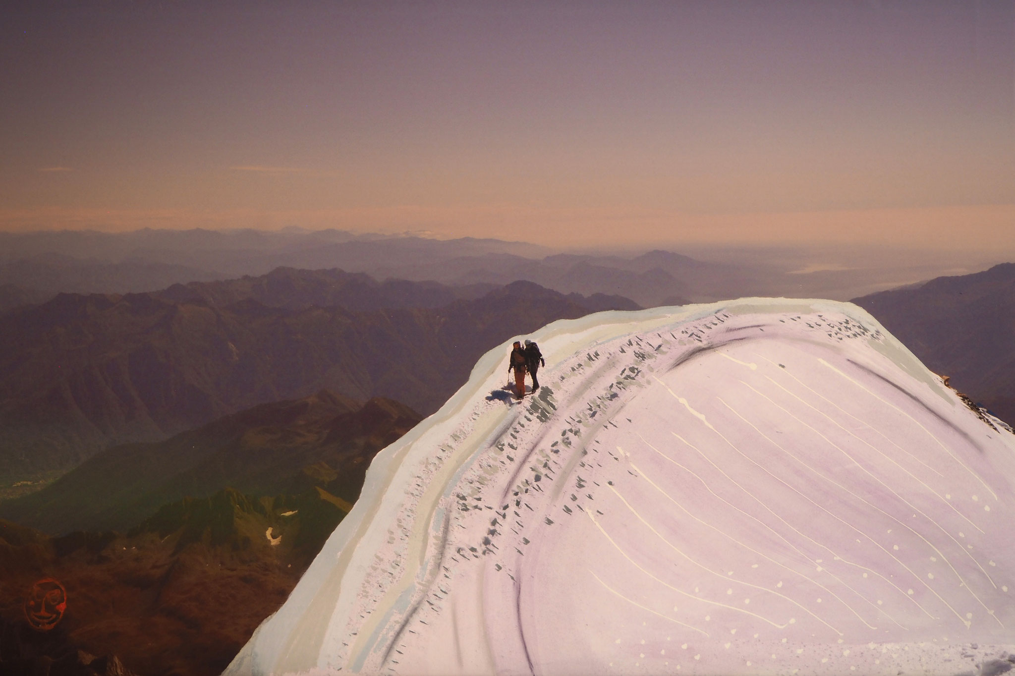 Weissnicht 90cmx60cm - Gipfelgrat Weissmies 4017m