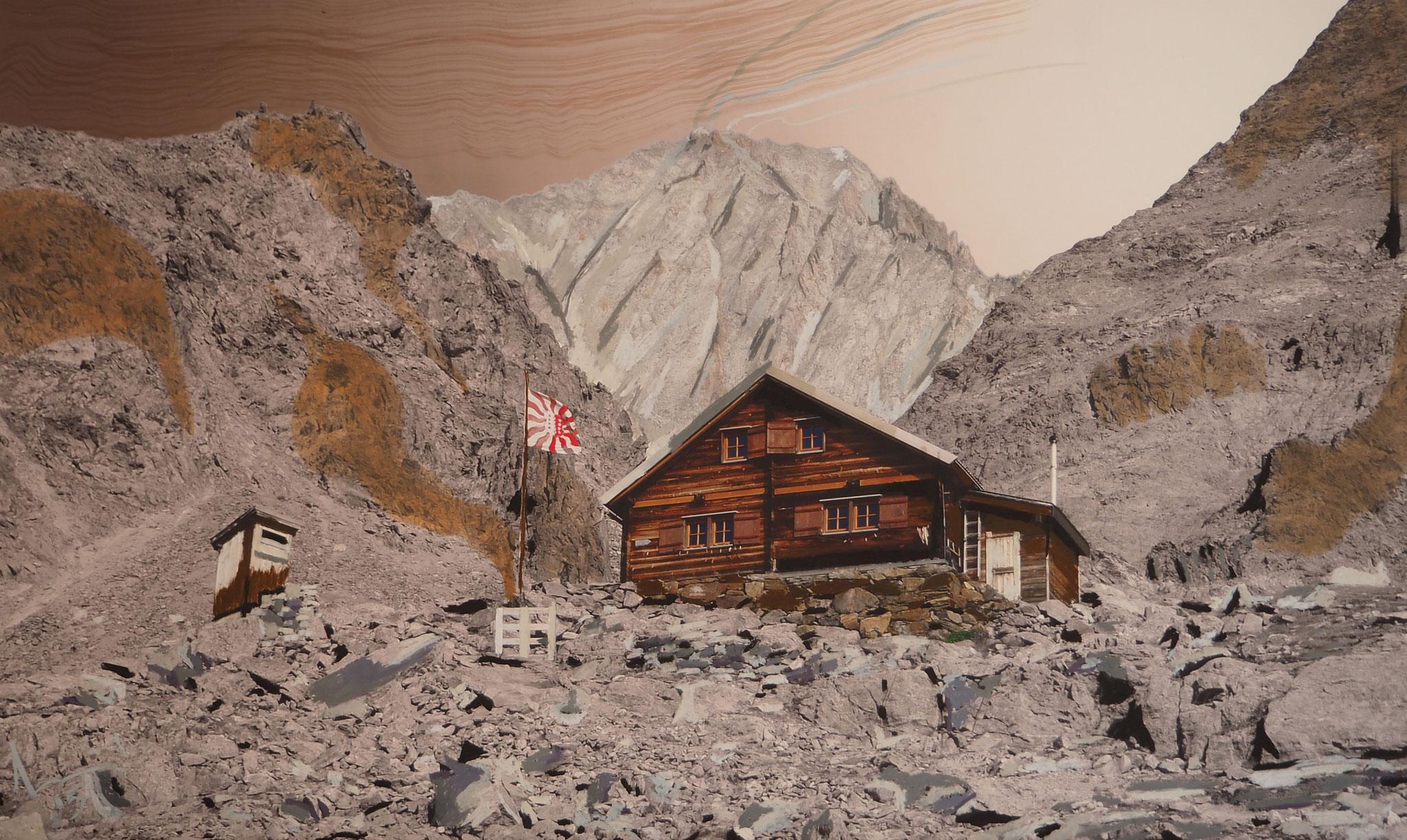Bietschhürn 100cmx60cm - Bietschhornhütte 2565 m