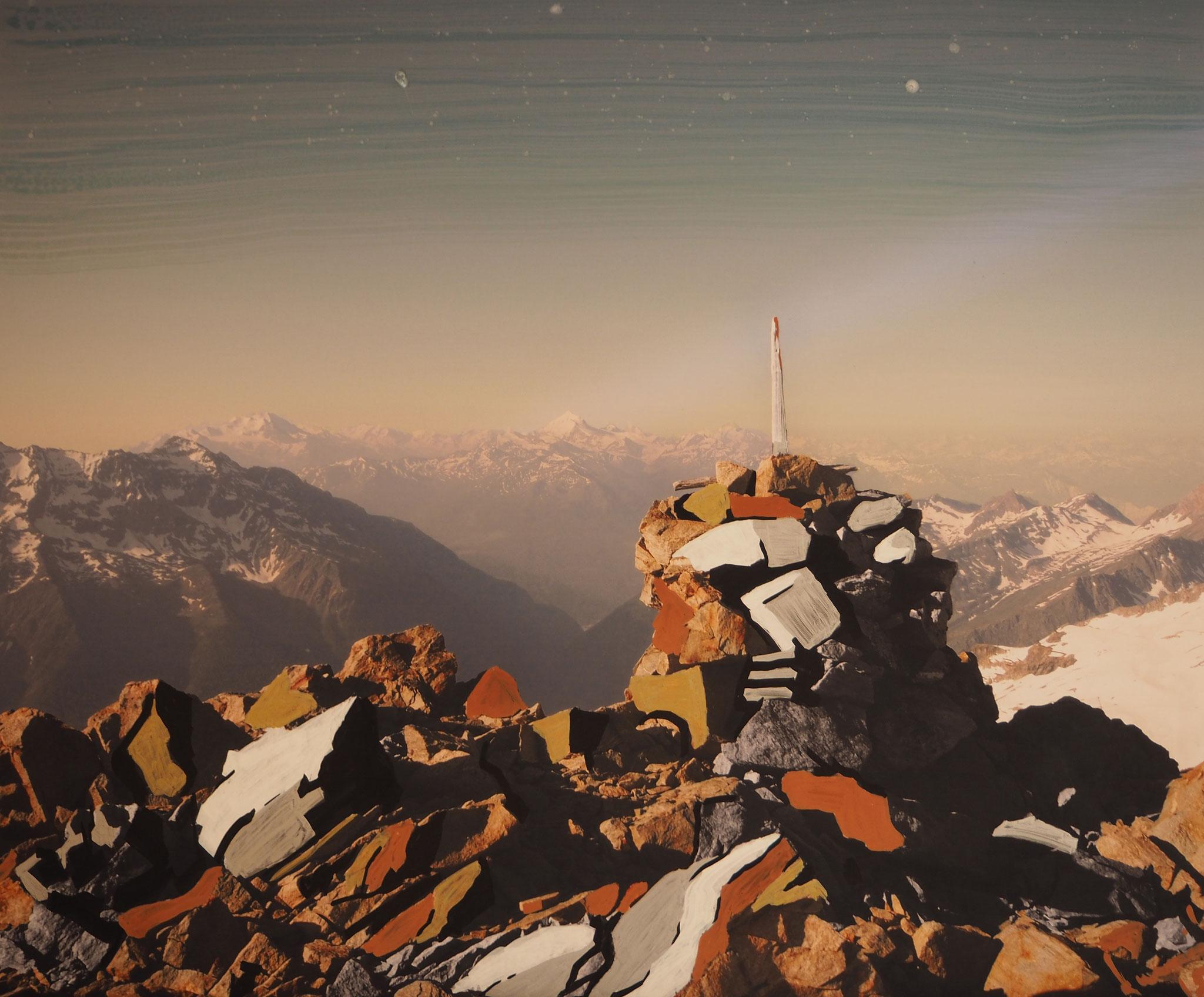 Weissspitz 100cmx80cm - Weisshorn vom Sackhorn 3203m