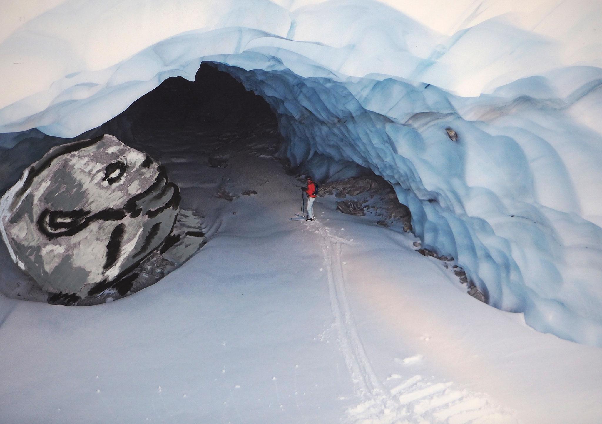 Eisgeist 50cmx70cm - Eishöhle beim Tennbachhorn 3013m