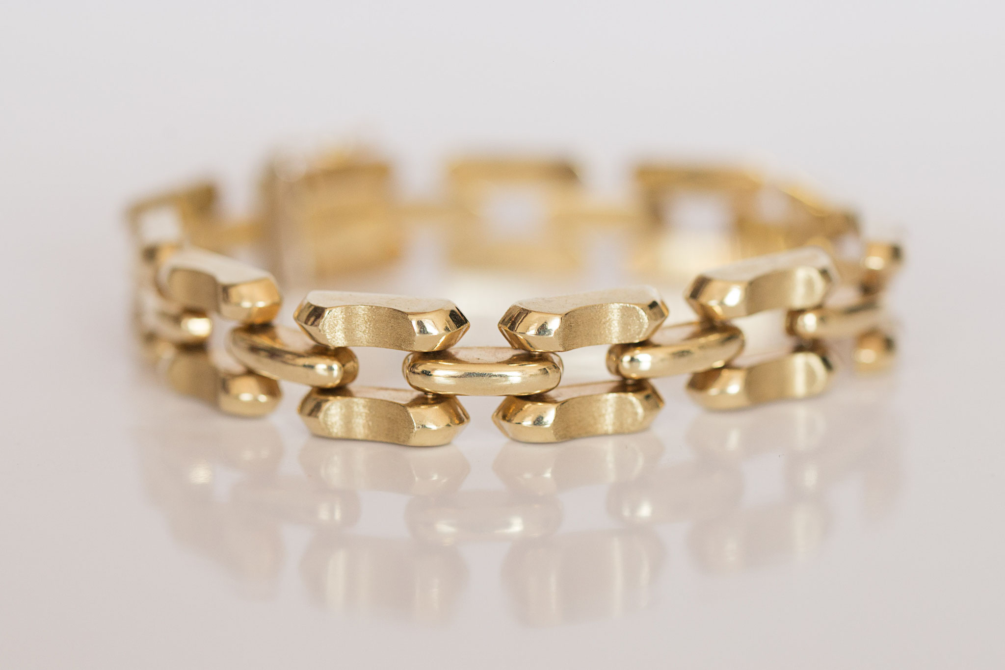 Vintage Goldarmband in 14 kt Gelbgold Art Deco Style