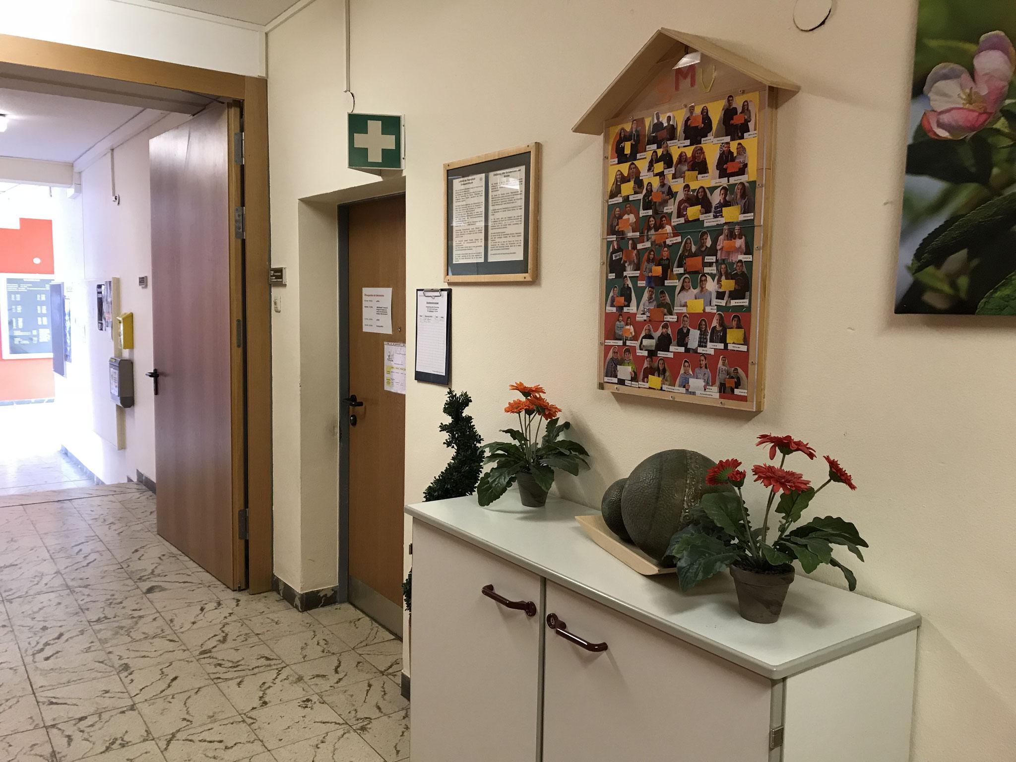 Eingang Sekretariat