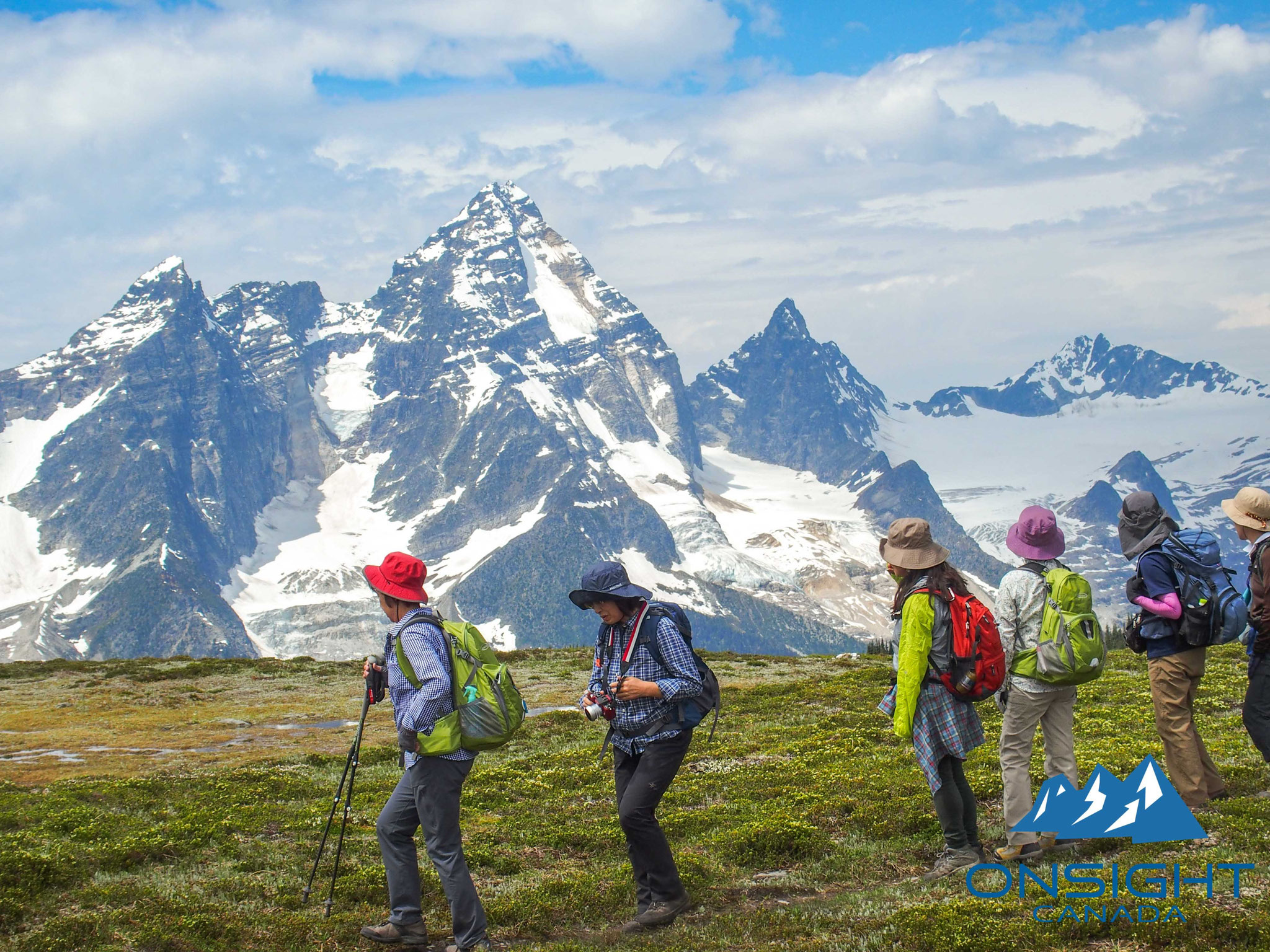 Mt.Sir Donaldを見ながらのハイキング