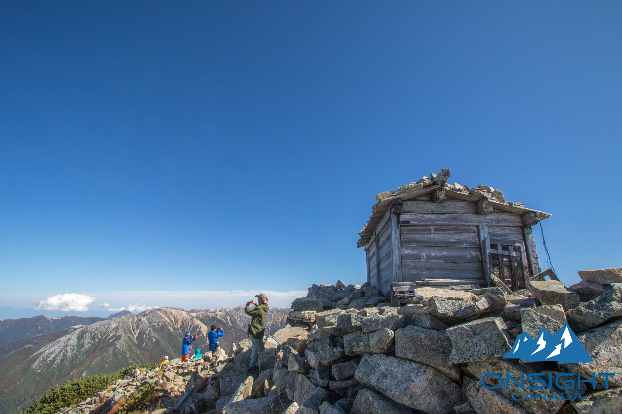 Little shrine at the top of mountain