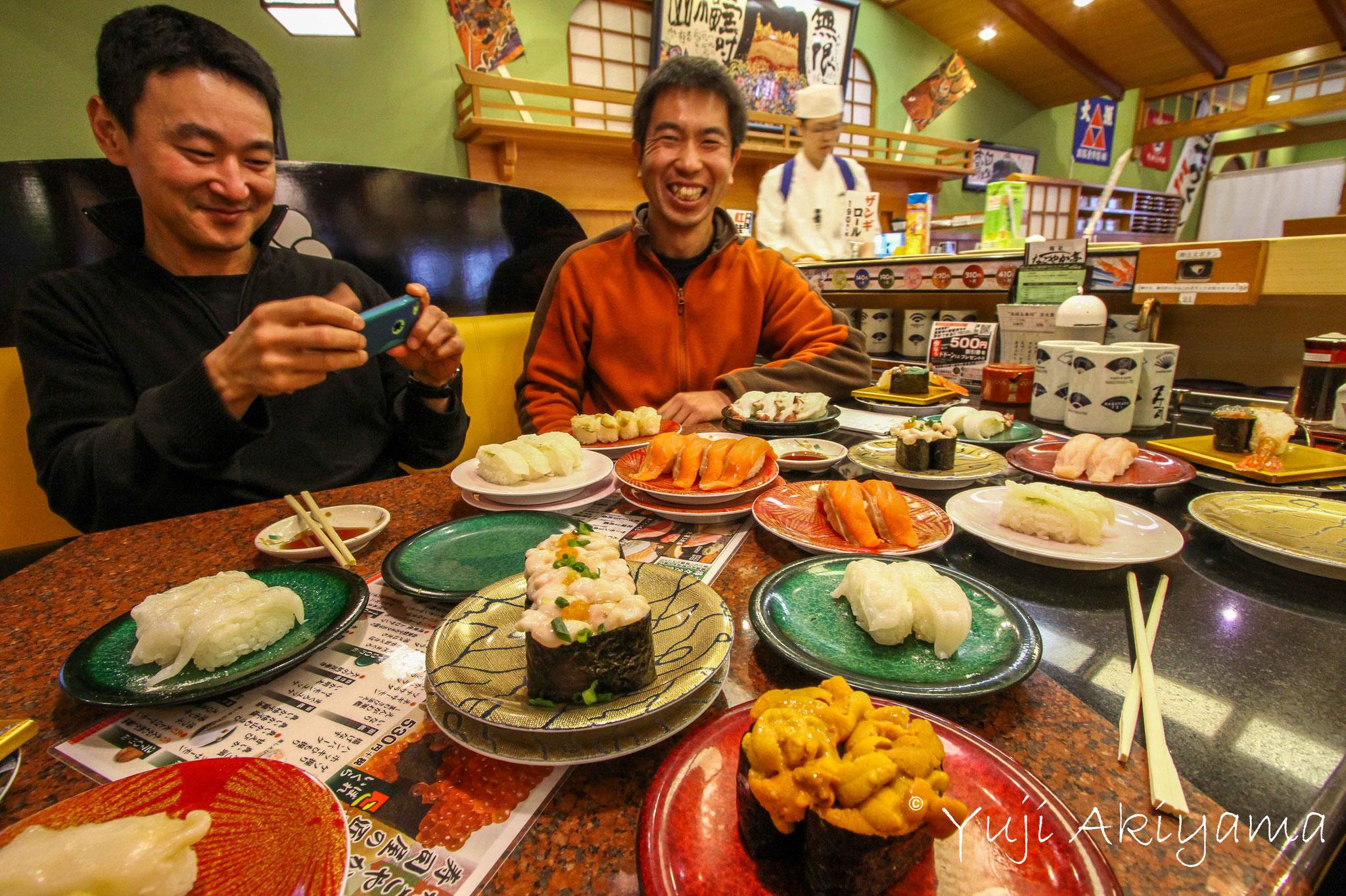 Sushi is famous in Hokkaido