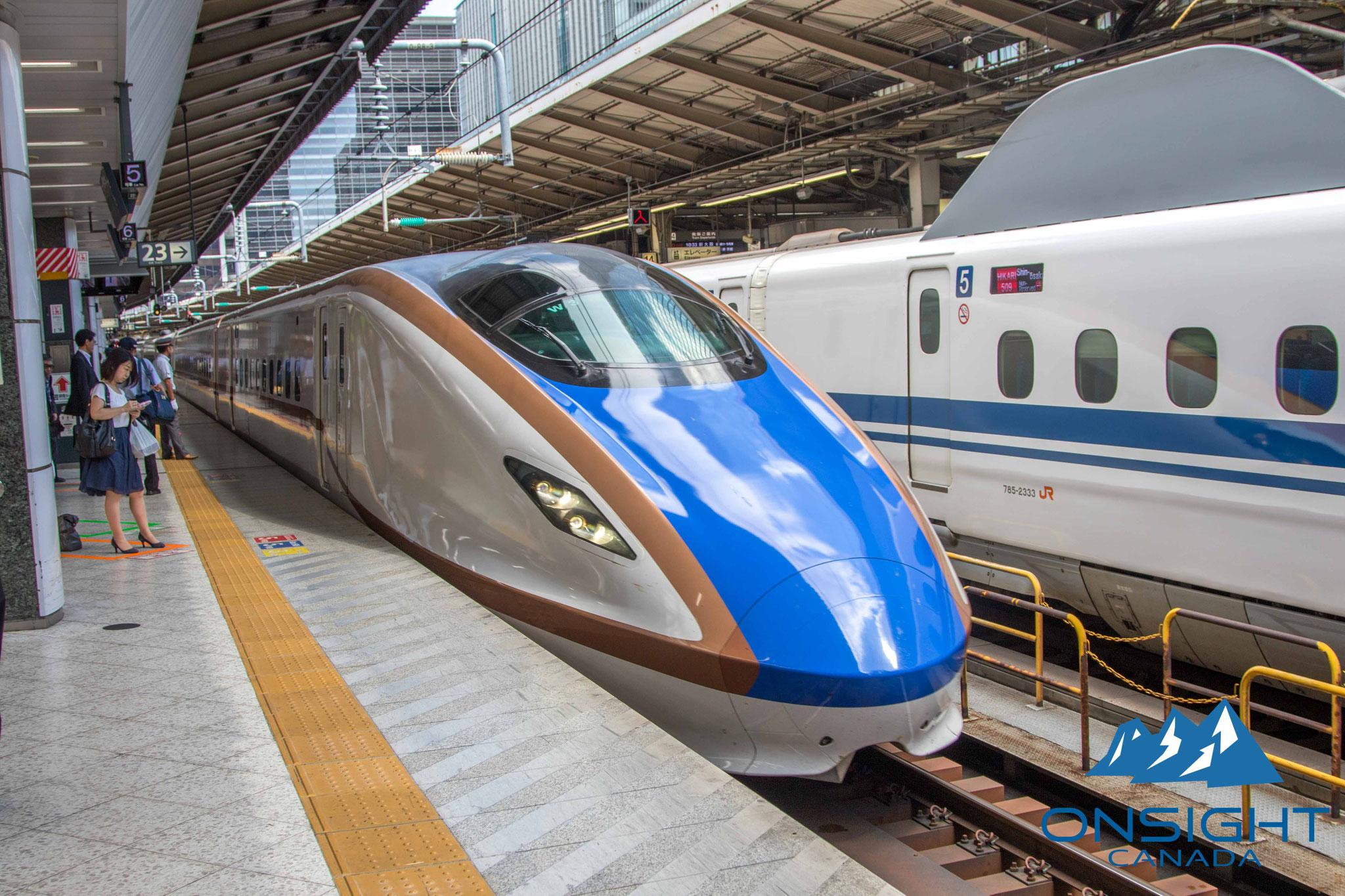 Bullet train to Toyama prefecture