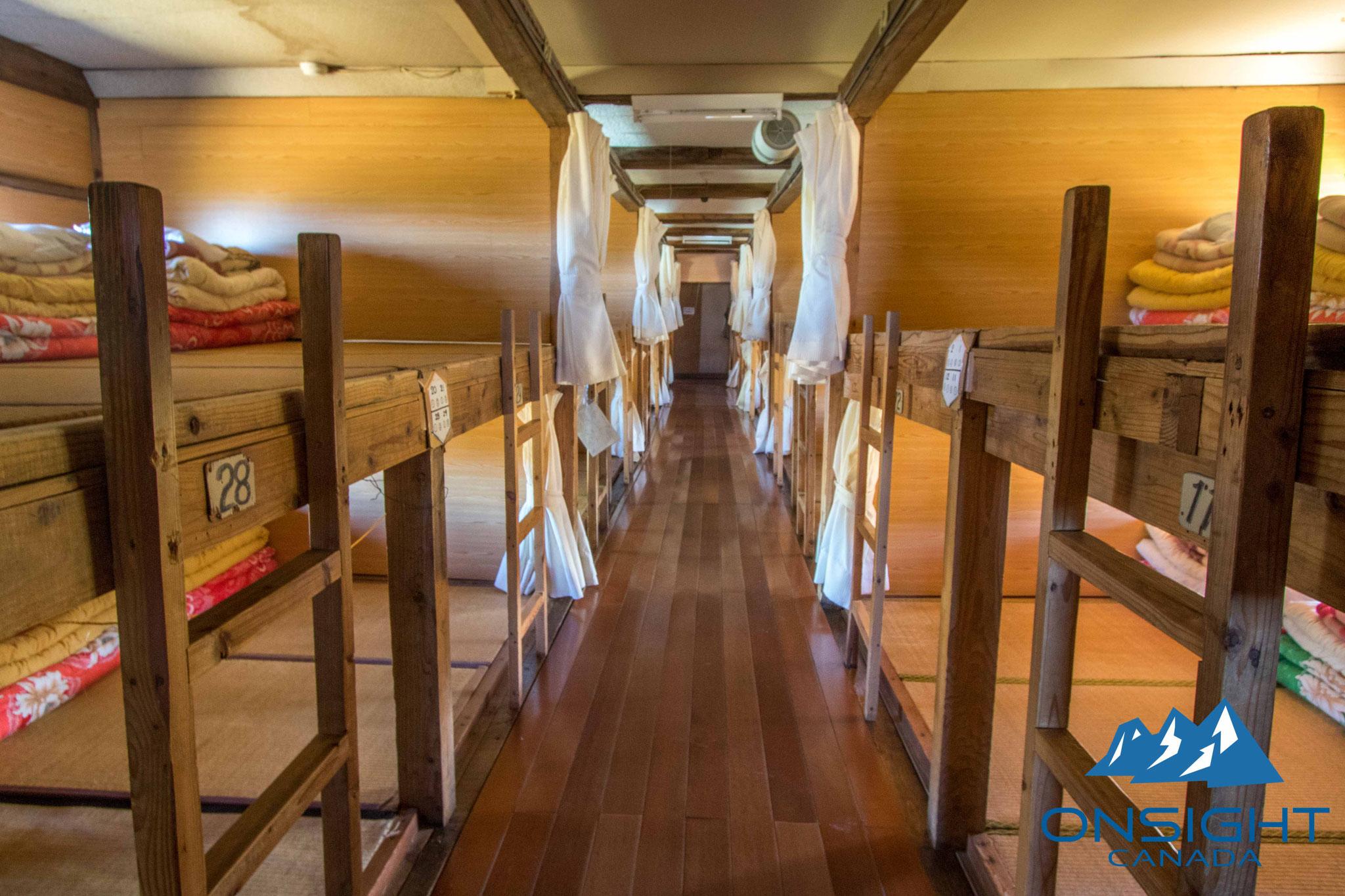 Sleeping in bunk bed