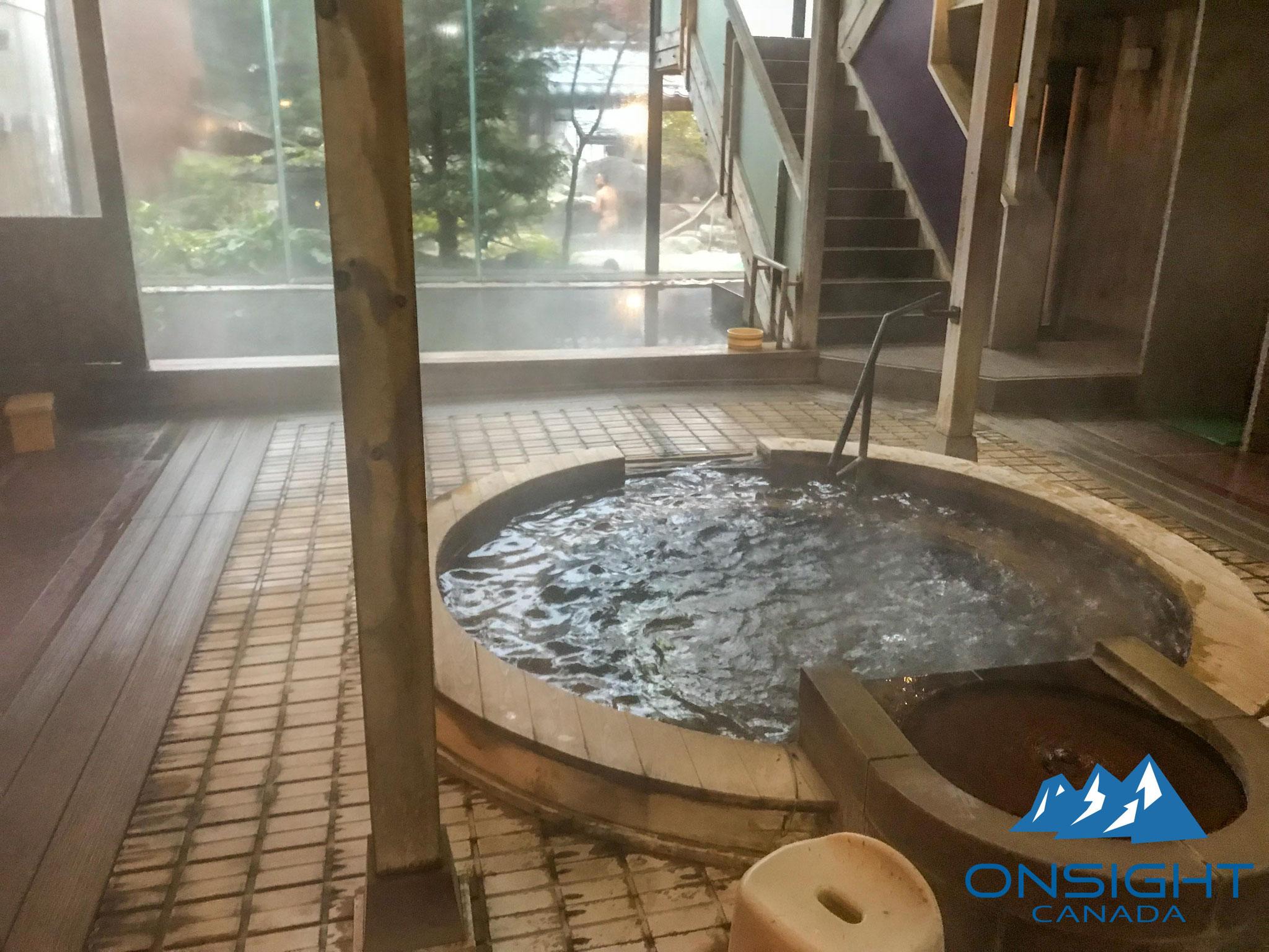 Inside onsen