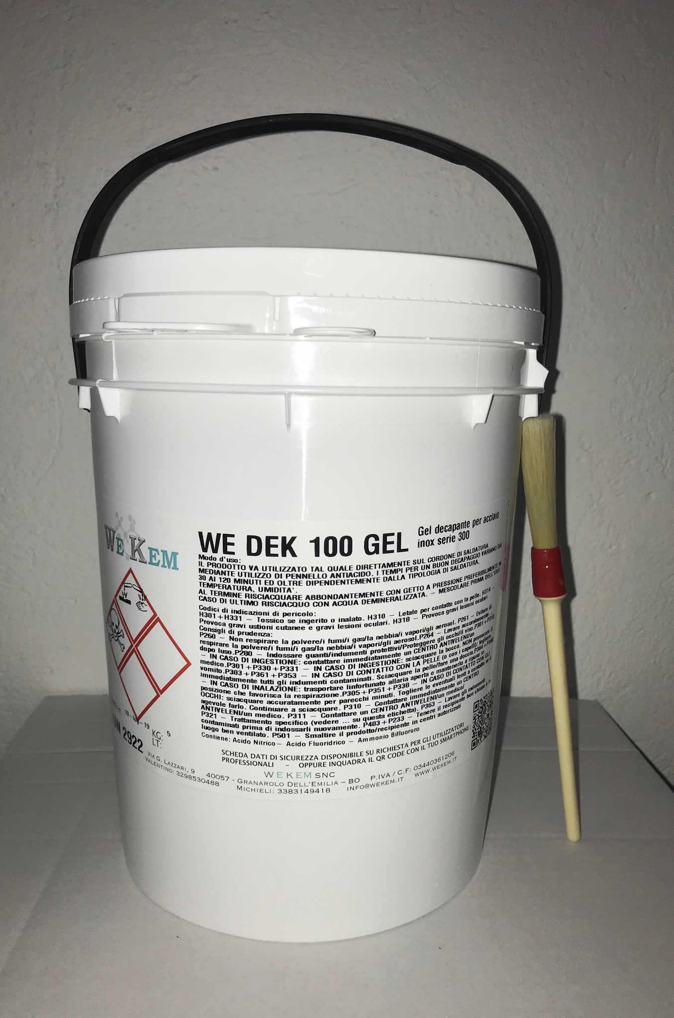 Gel de decapado para acero inoxidable 5KG