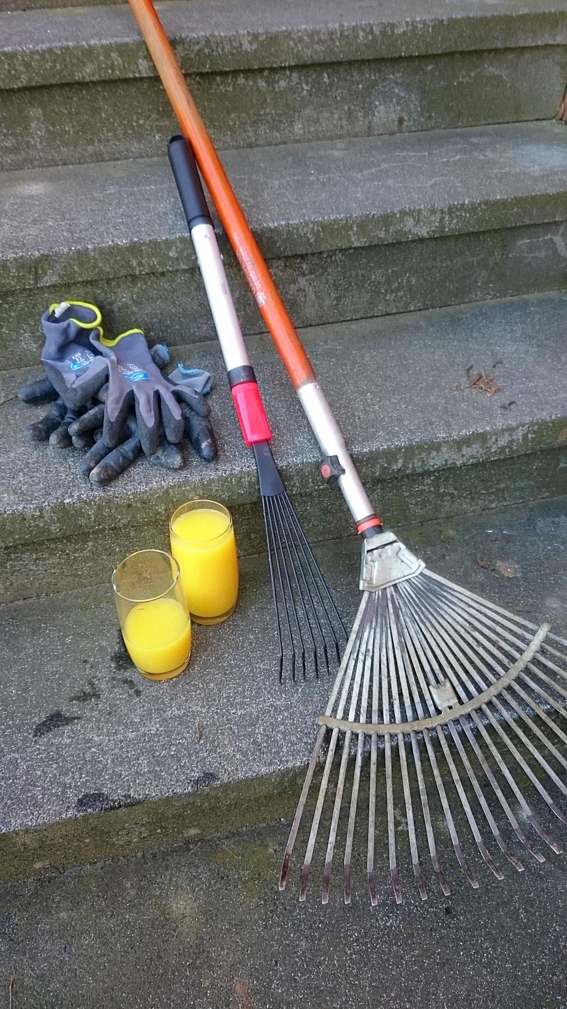 """zwei Personen, eine Stunde Zeit und dieses Arbeitsgerät plus zwei Glas Orangensaft: mehr war zum """"Aufräumen"""" von 115 Quadratmetern nicht nötig! - Foto: Britta Raabe"""