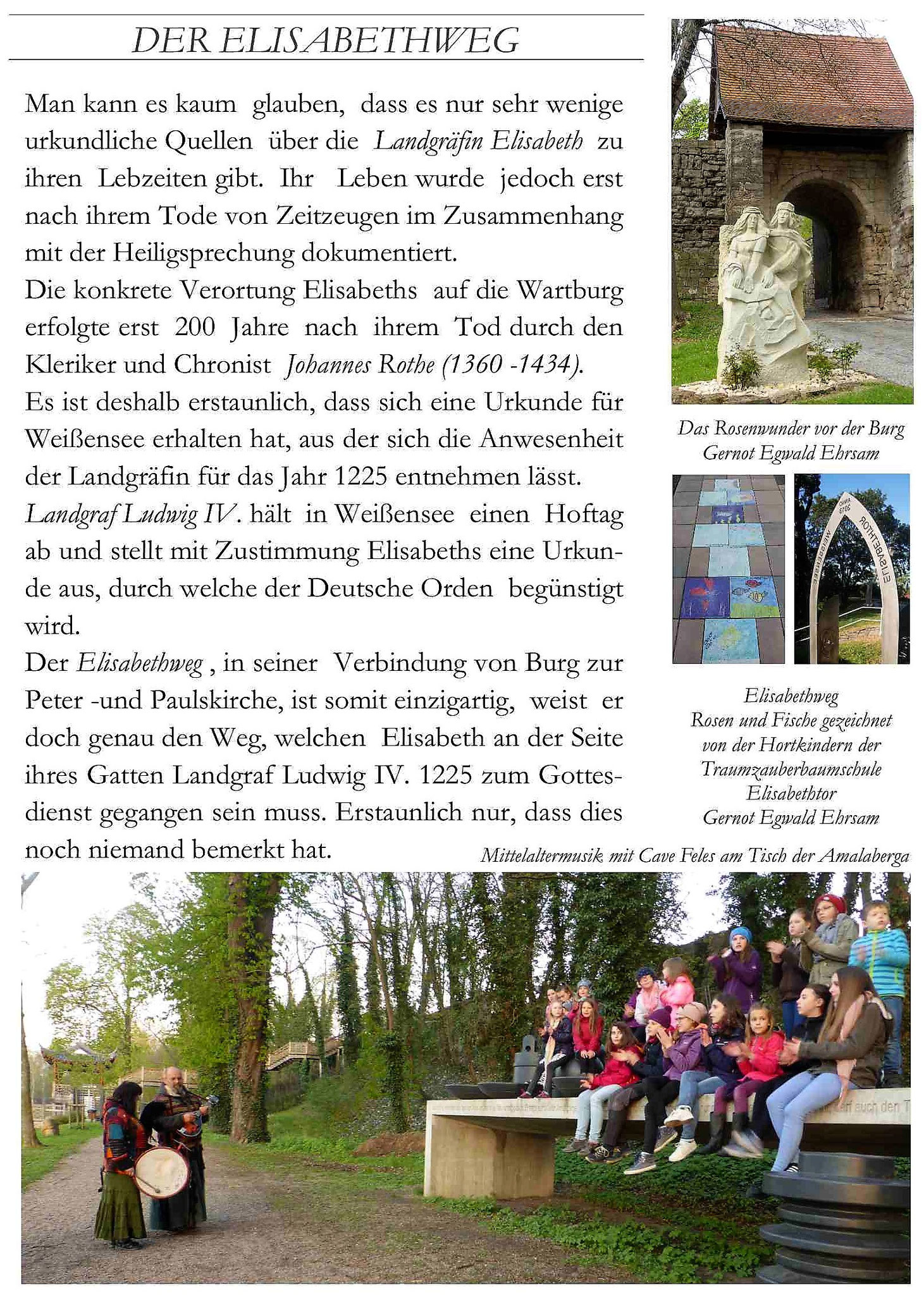 Elisabethweg in Weißensee Text und Bilder