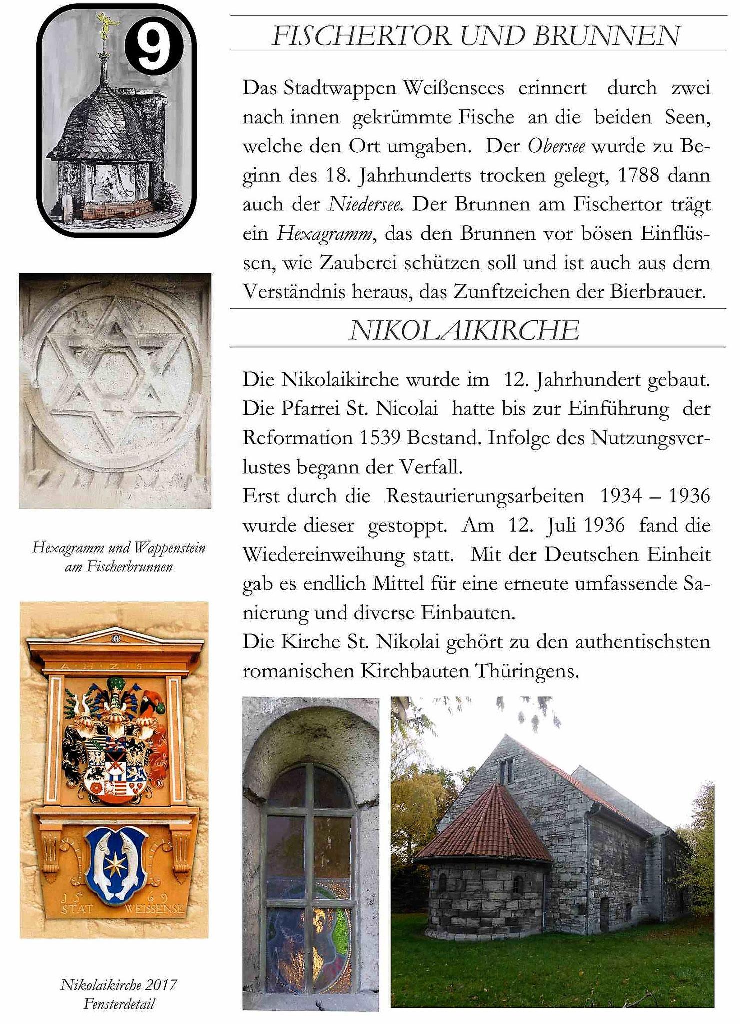Nicolaikirche und Fischerbrunnen in Weißensee Text und Bilder