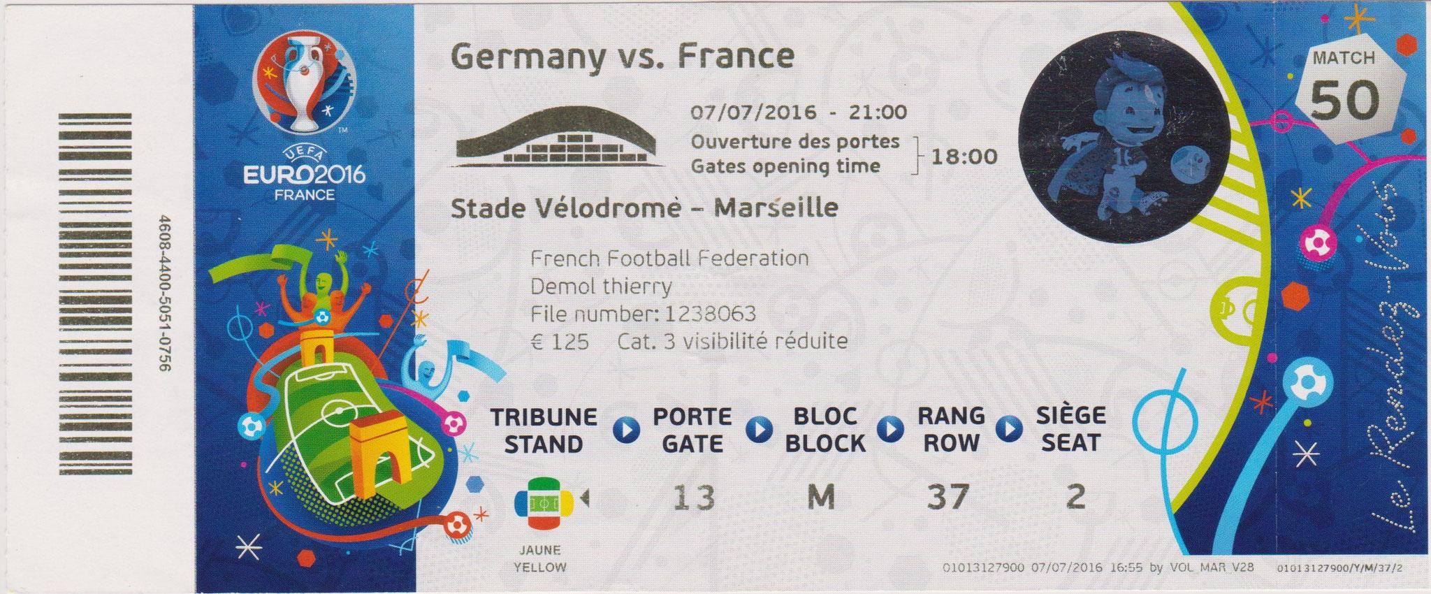 Euro 2016 : France - Allemagne ( 1/2 Finale)