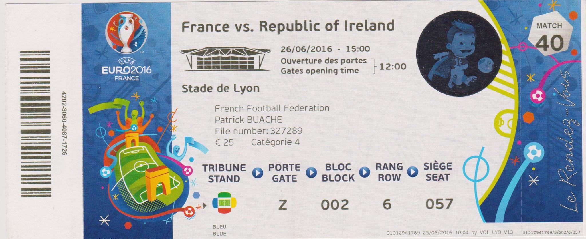Euro 2016 : France - Irlande (1/8éme de Finale)