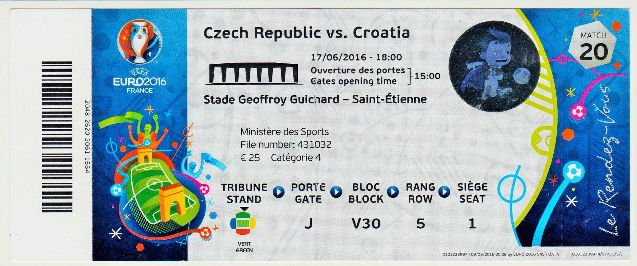 17/06/2016  St Etienne : Rép. Tchèque  2 - 2  Croatie  > Skoda, Necid -sp- (Rep Tch) -- Perisic, Rakitic (Cro) <
