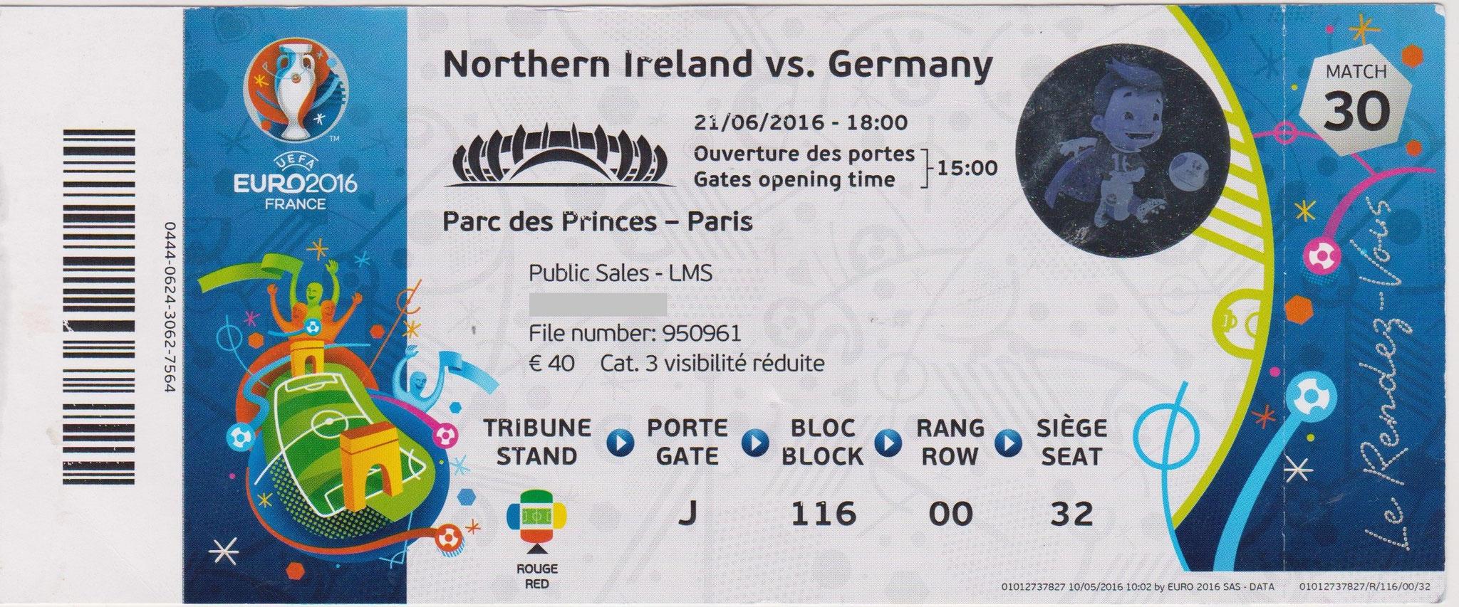 21/06/2016  Paris :  Allemagne  1 - 0  Irlande Nord  > Gomez (Ger) <