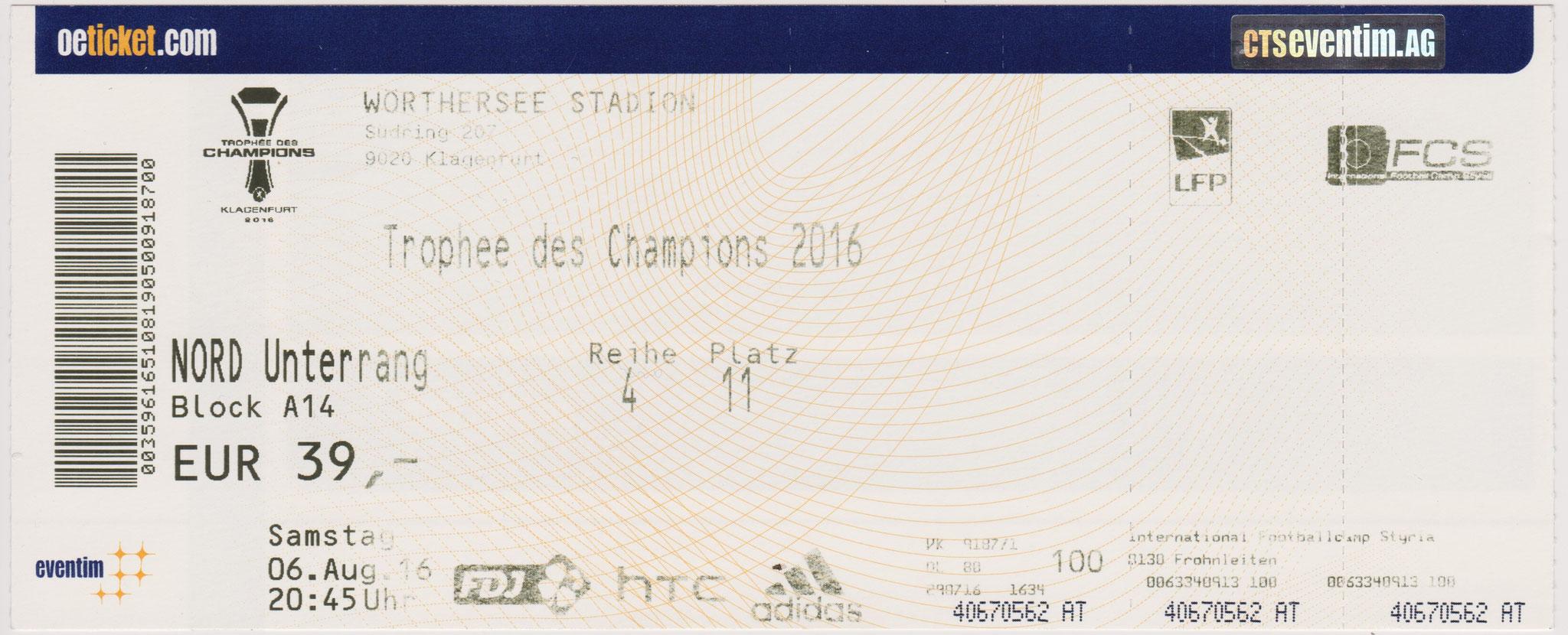 2016 à Klagenfurt : Paris SG bat Olympique Lyonnais  4 - 1
