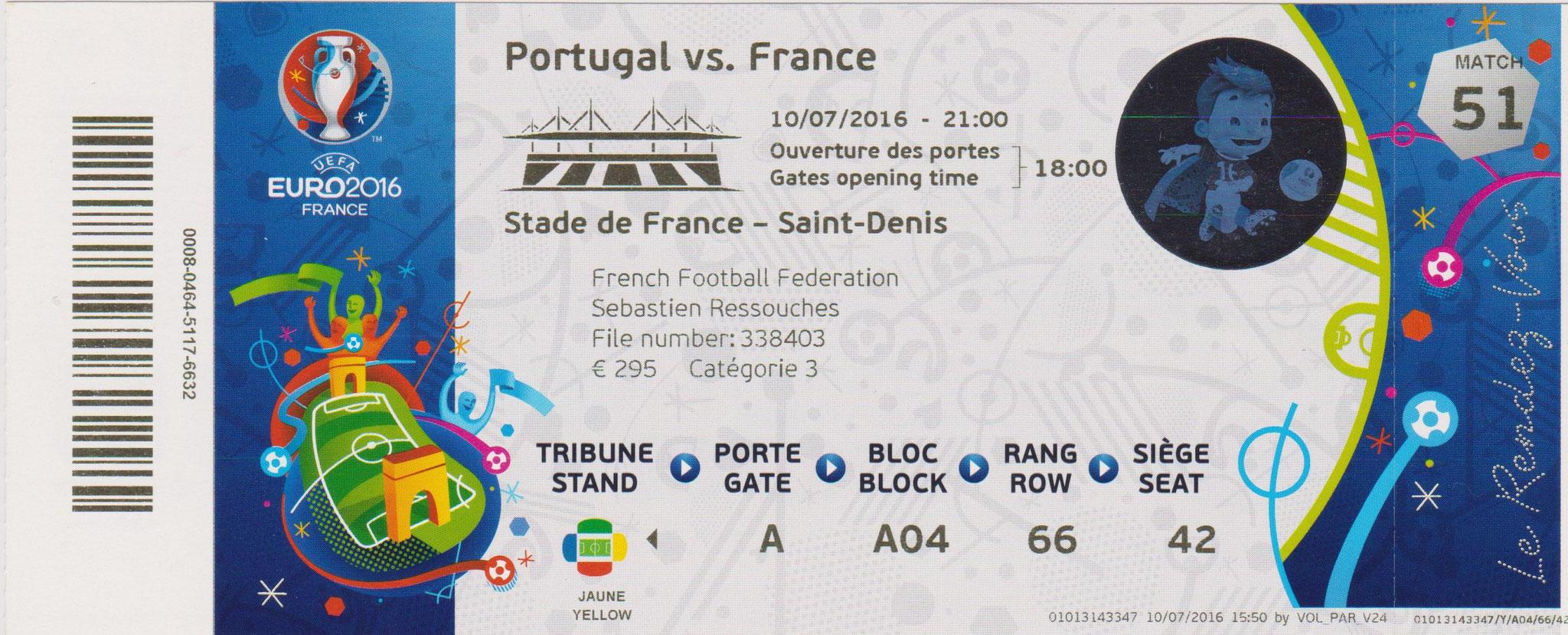 Euro 2016 : France - Portugal (Finale)