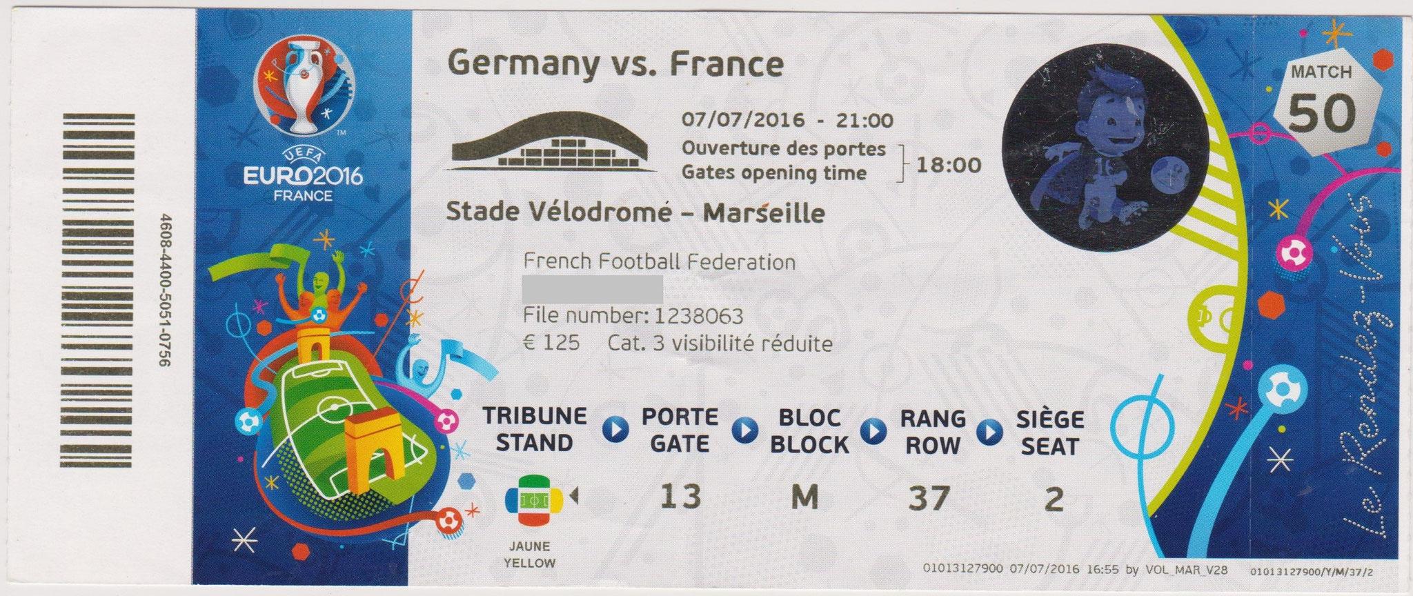 07/07/2016  Marseille :  France  2 - 0  Allemagne  > Griezmann X 2 (Dont 1 pen) (Fra) <