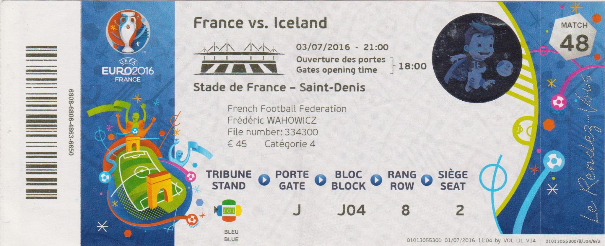 Euro 2016 : France - Islande (1/4 de Finale)
