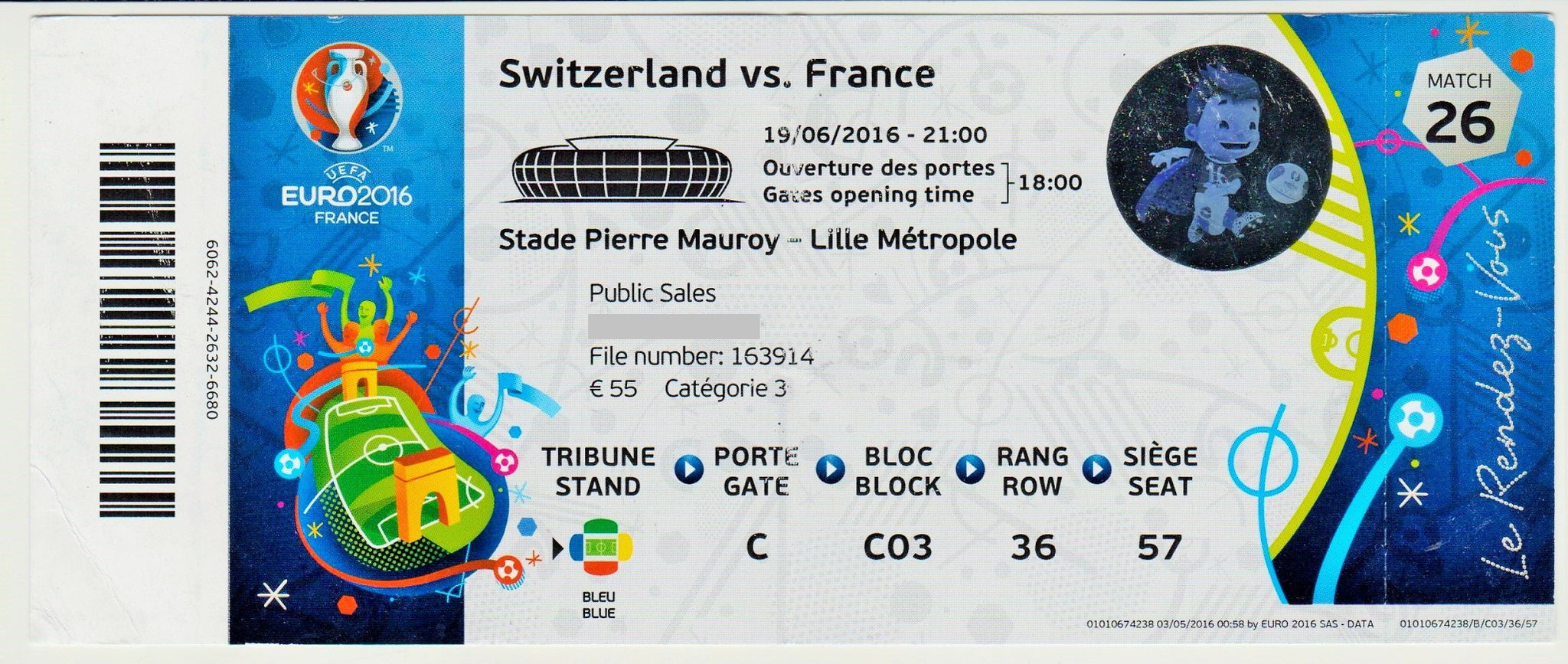 19/06/2016  Lille :  France 0 - 0  Suisse