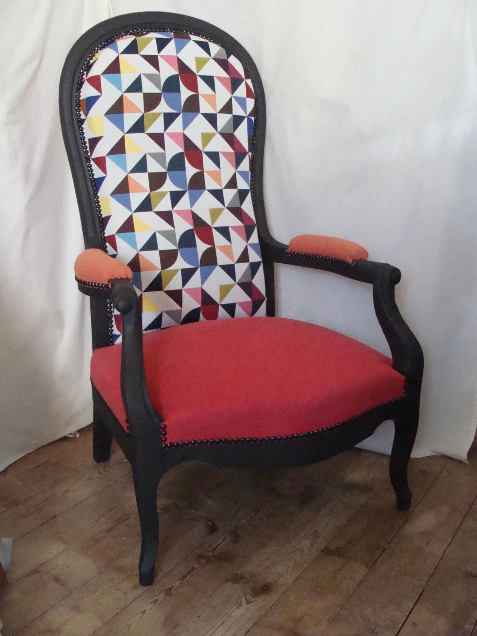 Relooker Un Fauteuil Voltaire fauteuil voltaire (relooking) - agnesriquintapissiersellier