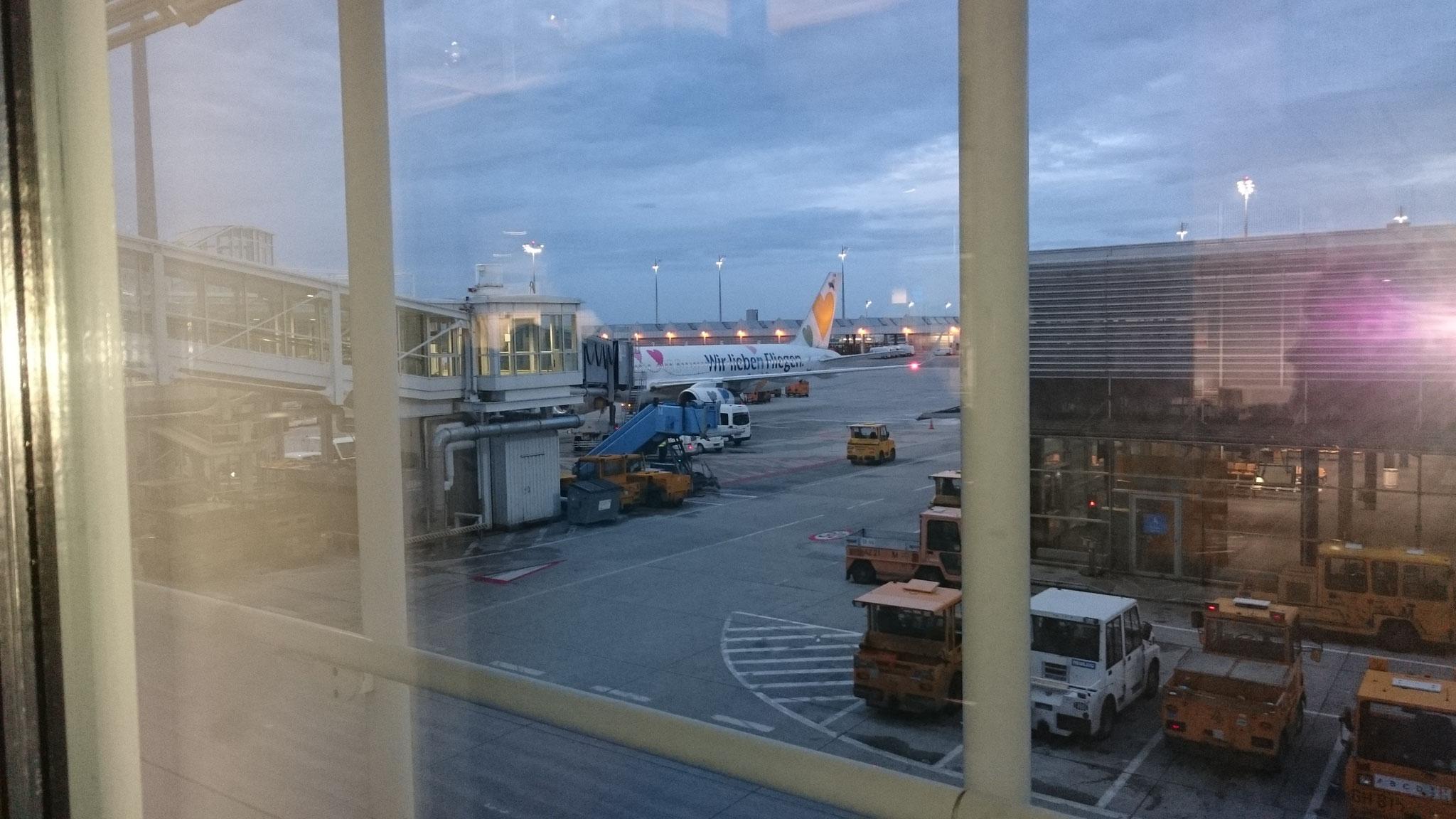 Abflug um 5:55 von München mit der Condor
