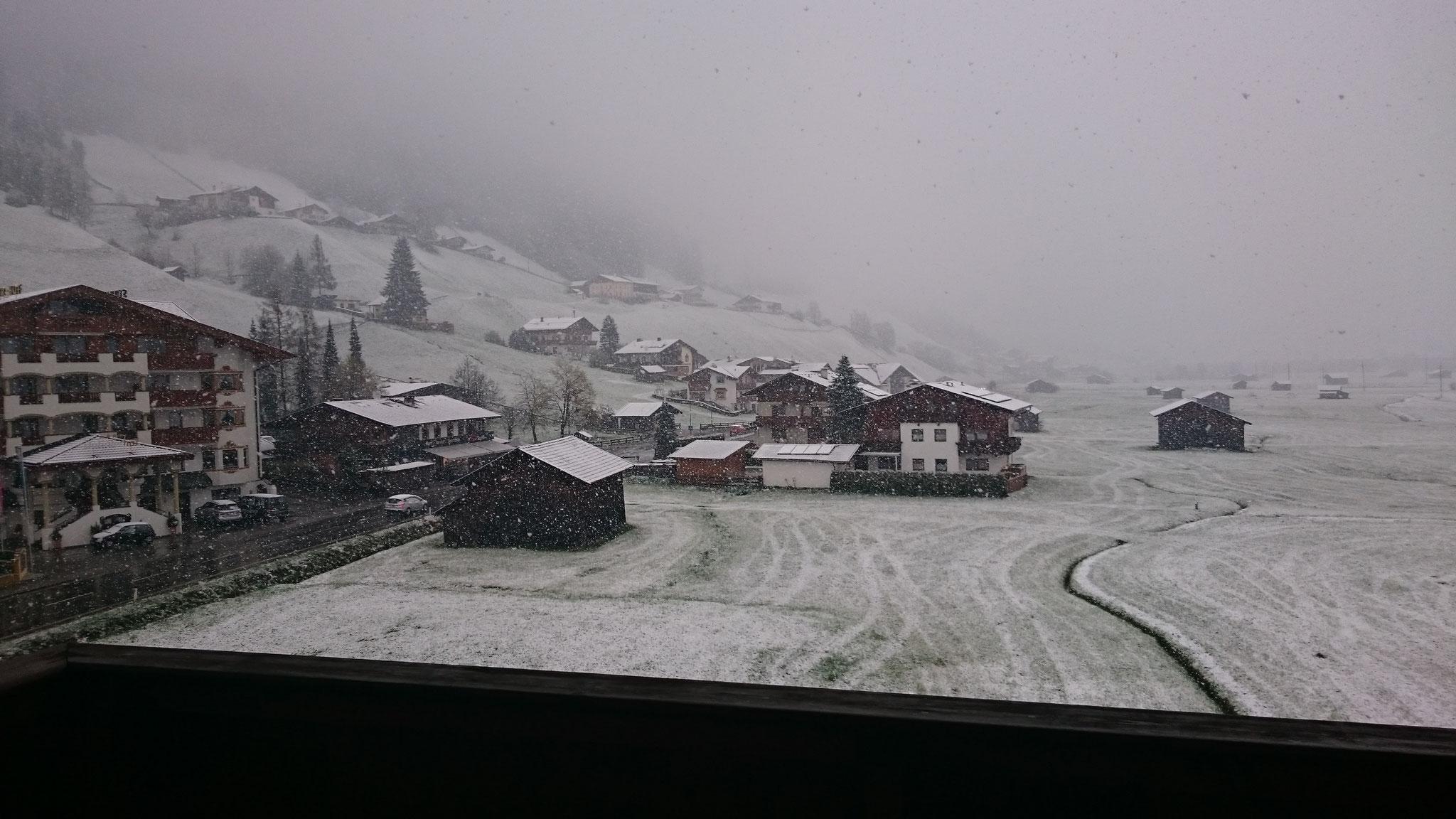 .. nach dem Schock am nächsten Morgen (mit Schnee hatte keiner gerechnet)