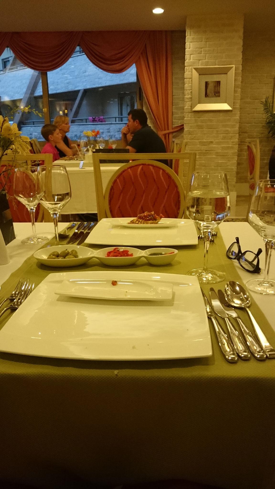 Ein feines italienisches Essen für Rebecca und mich...