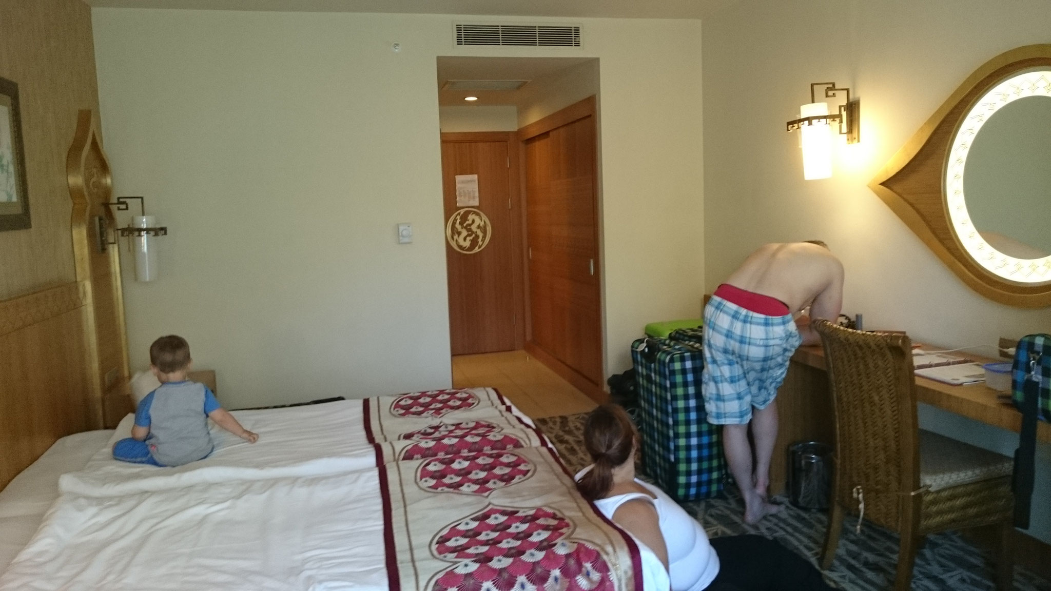 Das Zimmer: klein, fein, Hauptsache gut gekühlt. ;-)