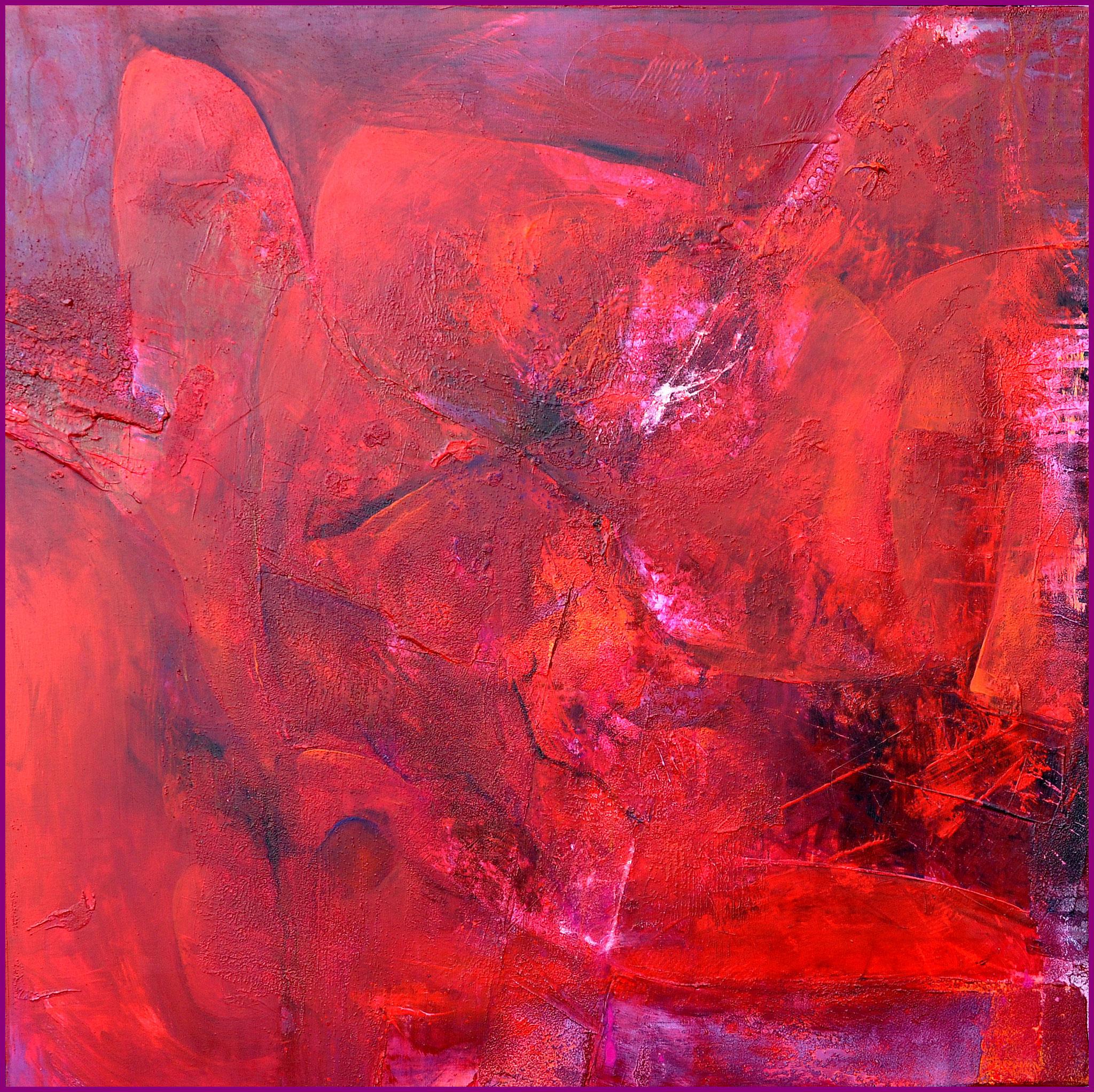 RED/ Acryl auf Leinwand/ 100X100