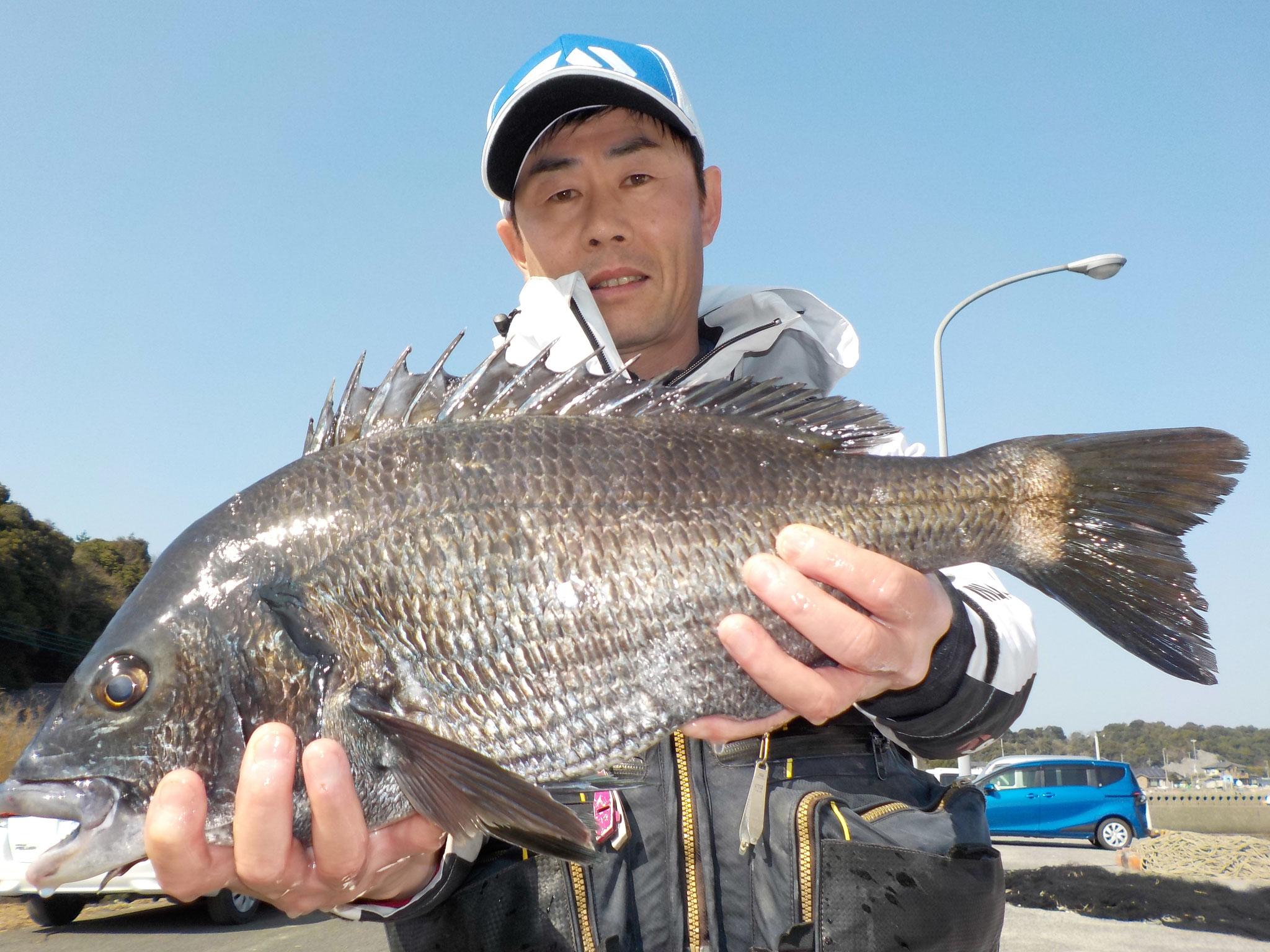 3月11日 磯釣りで新立さん ガバチヌ50㎝