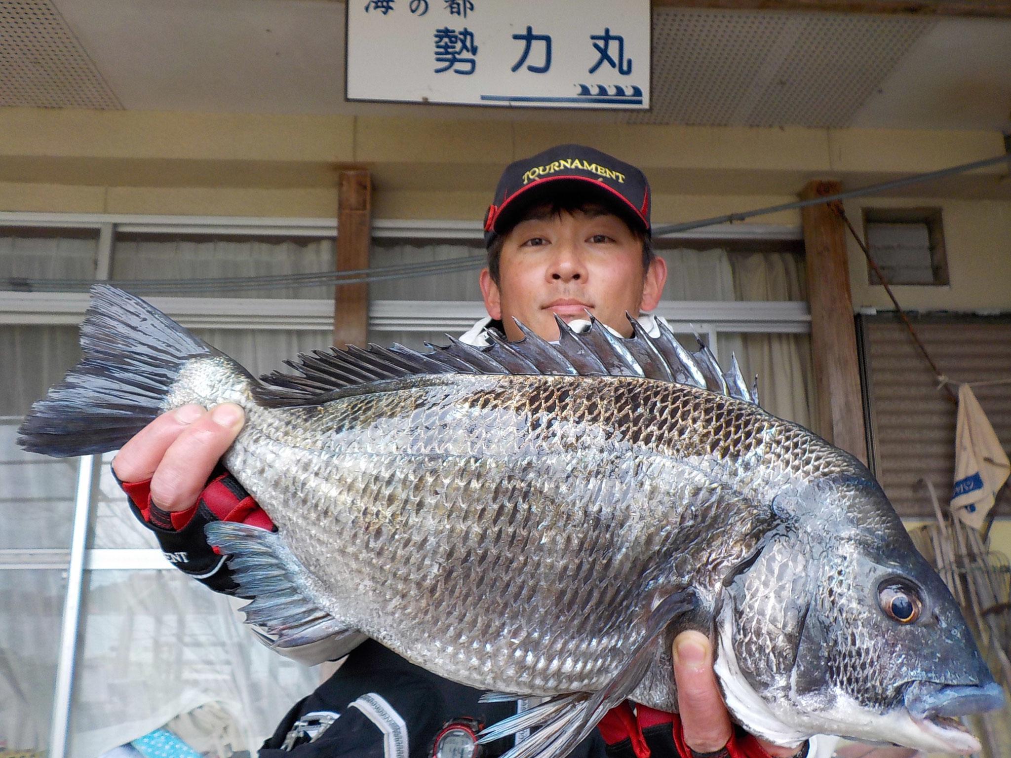 3月22日 磯釣りで渡辺さん ガバチヌ52.4㎝