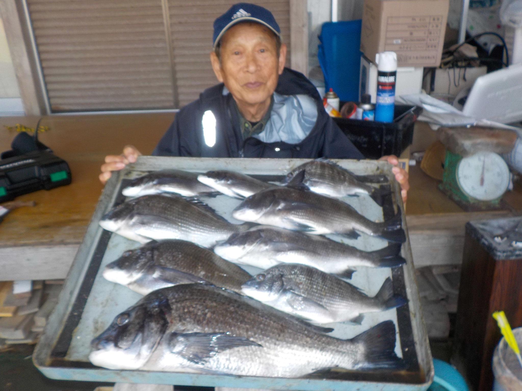 3月14日 フカセ釣りで片岡さん ガバチン51.5㎝