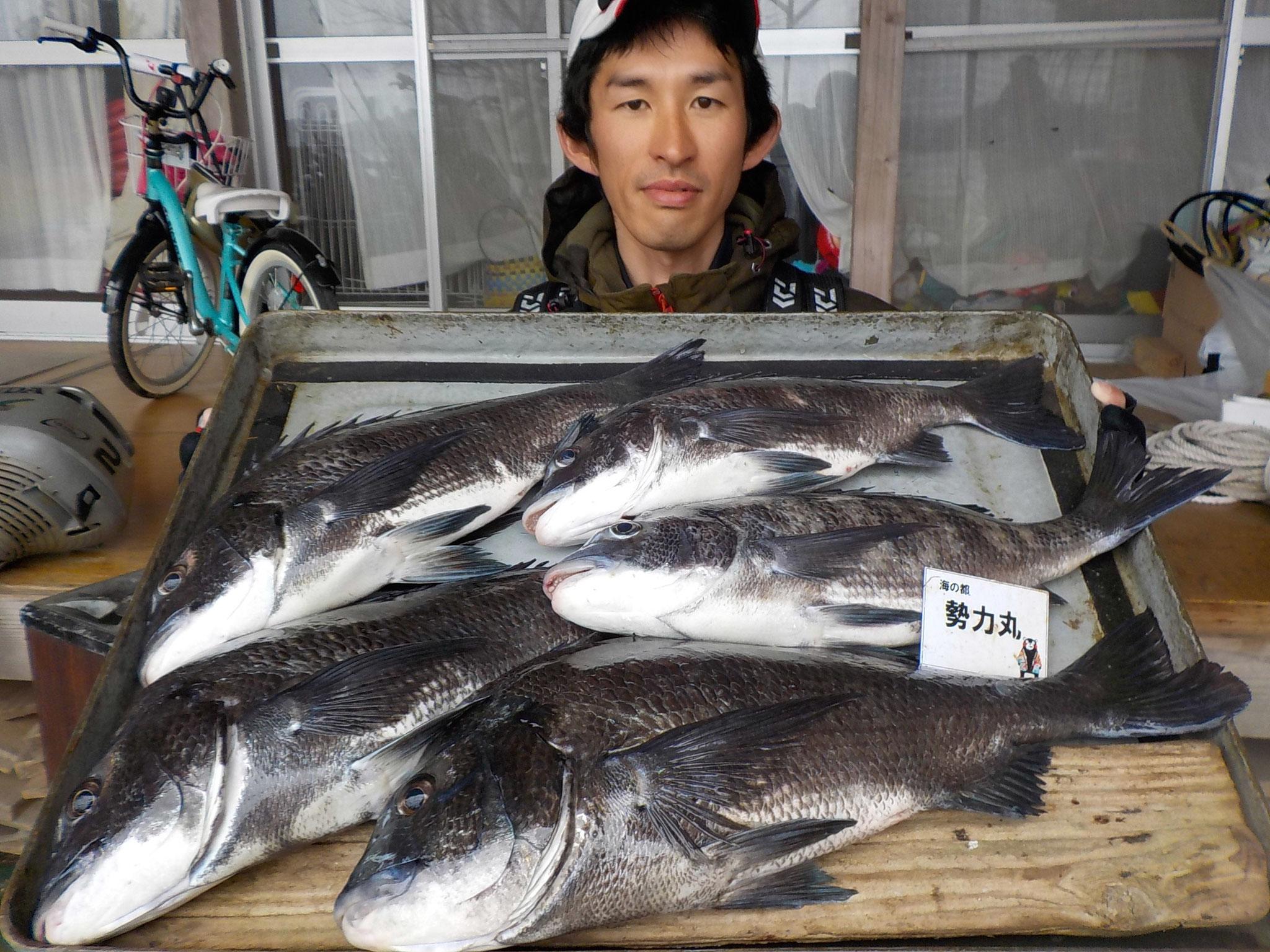3月13日 磯釣りで片山さん ガバチヌ50.6㎝