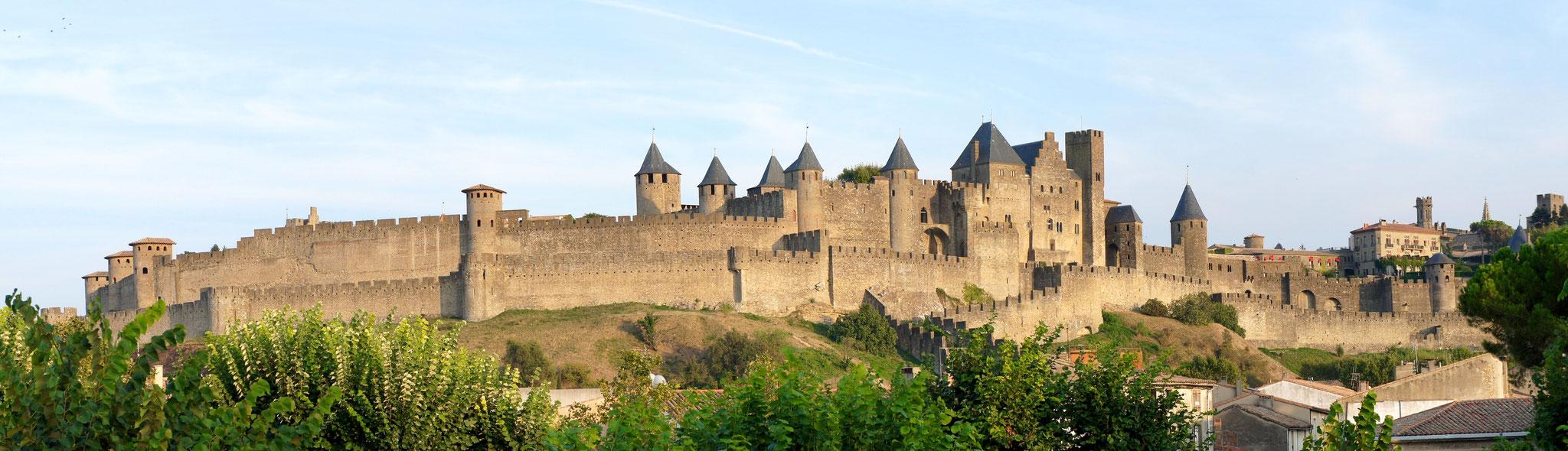 Las murallas de la ciudadela de Carcassone