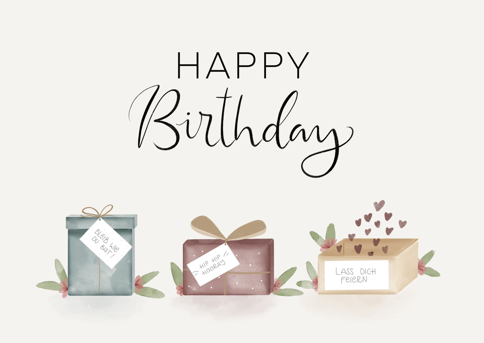"""Karte """"Happy Birthday"""""""