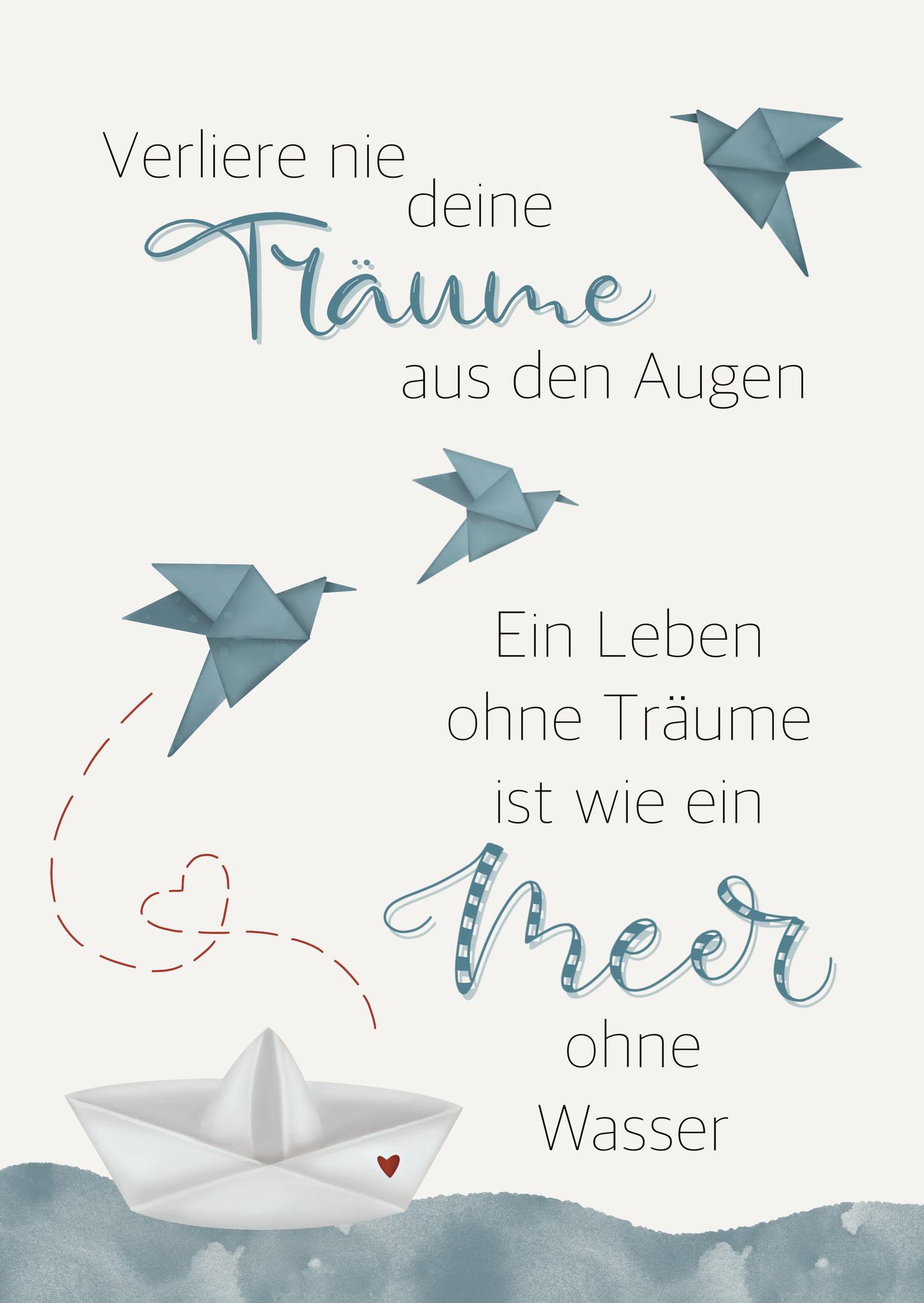 """Karte """"Träume"""""""