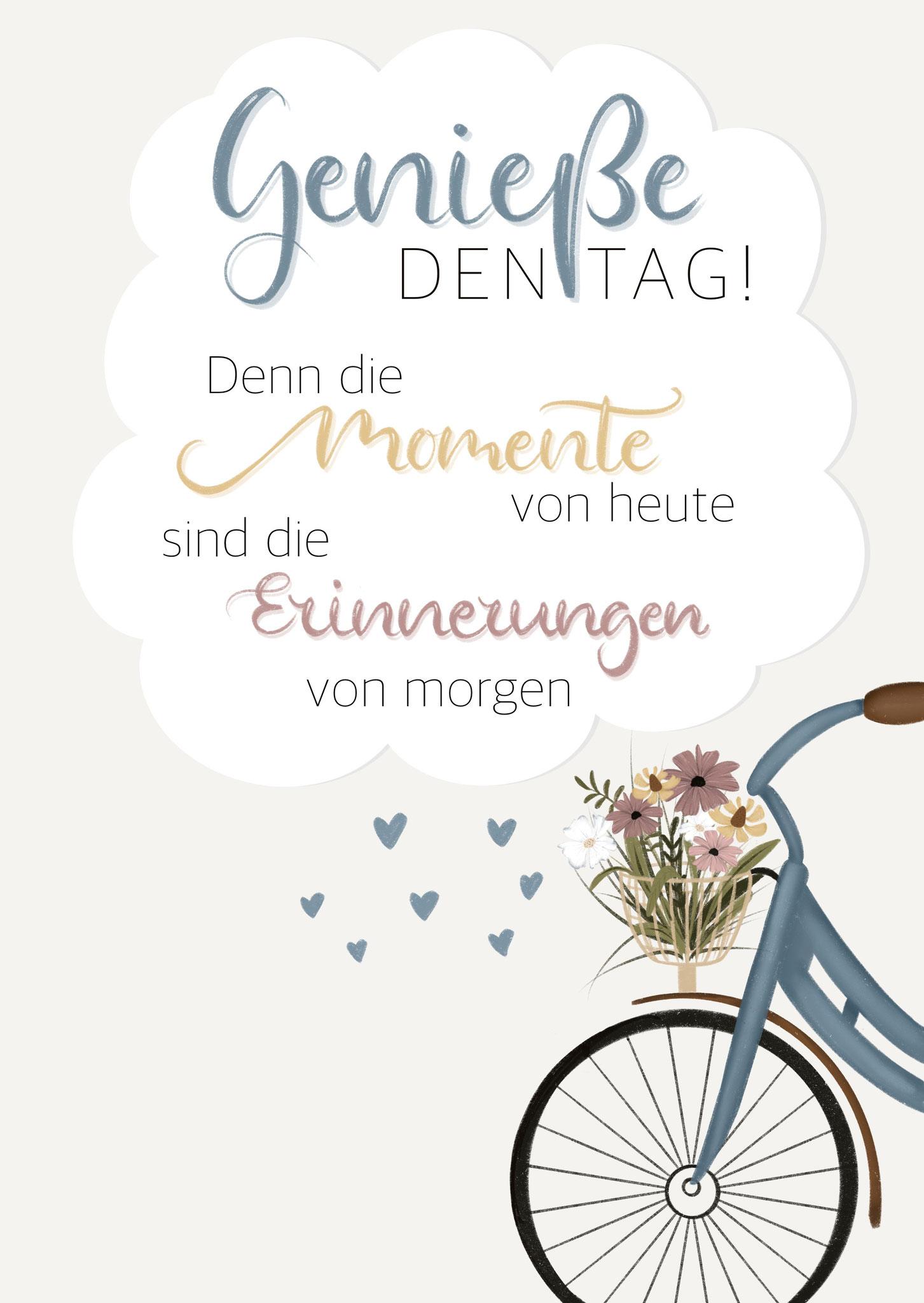 """Karte """"Genieße den Tag"""""""