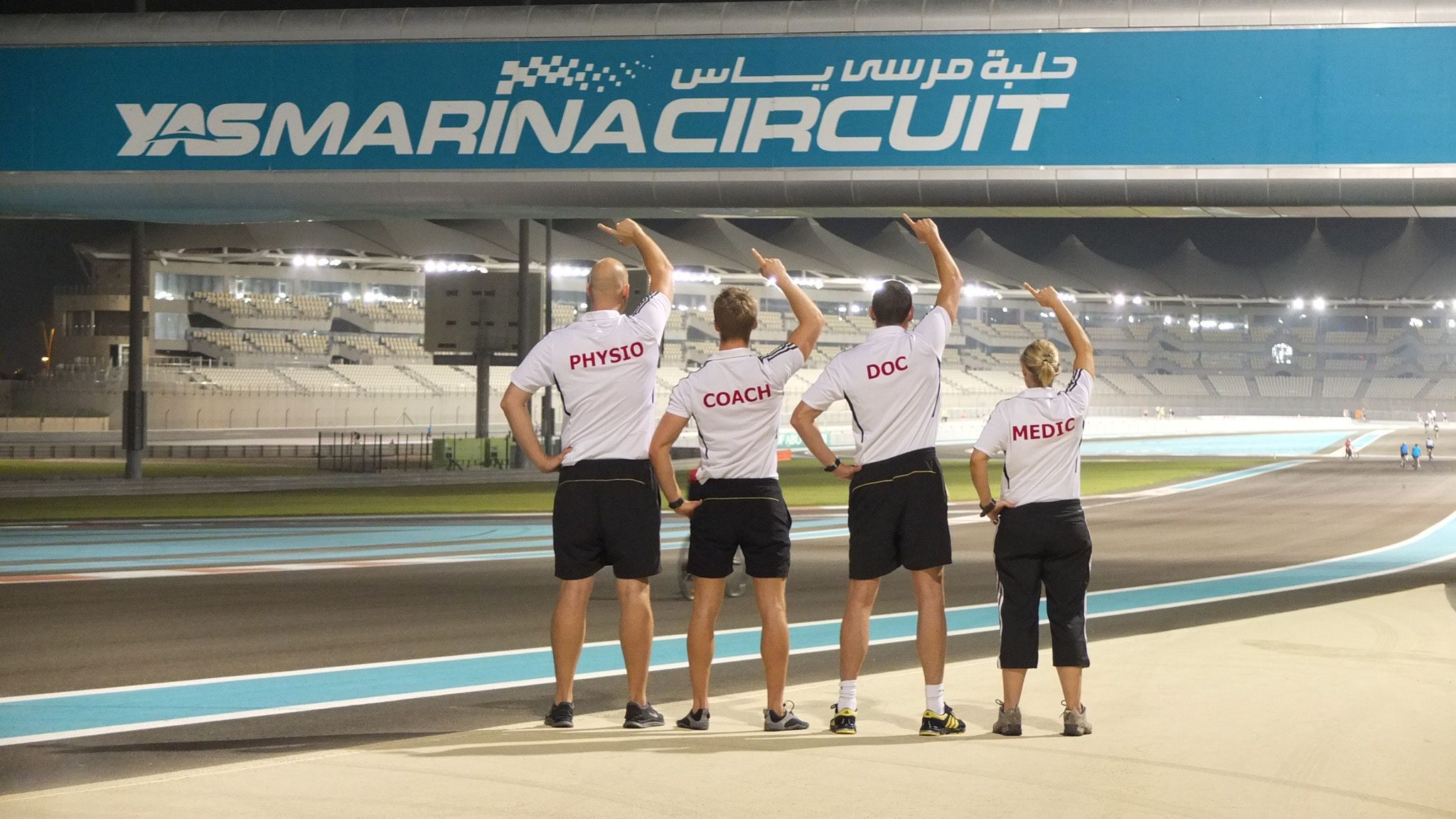 Team Fliegerarzt in Abu Dhabi