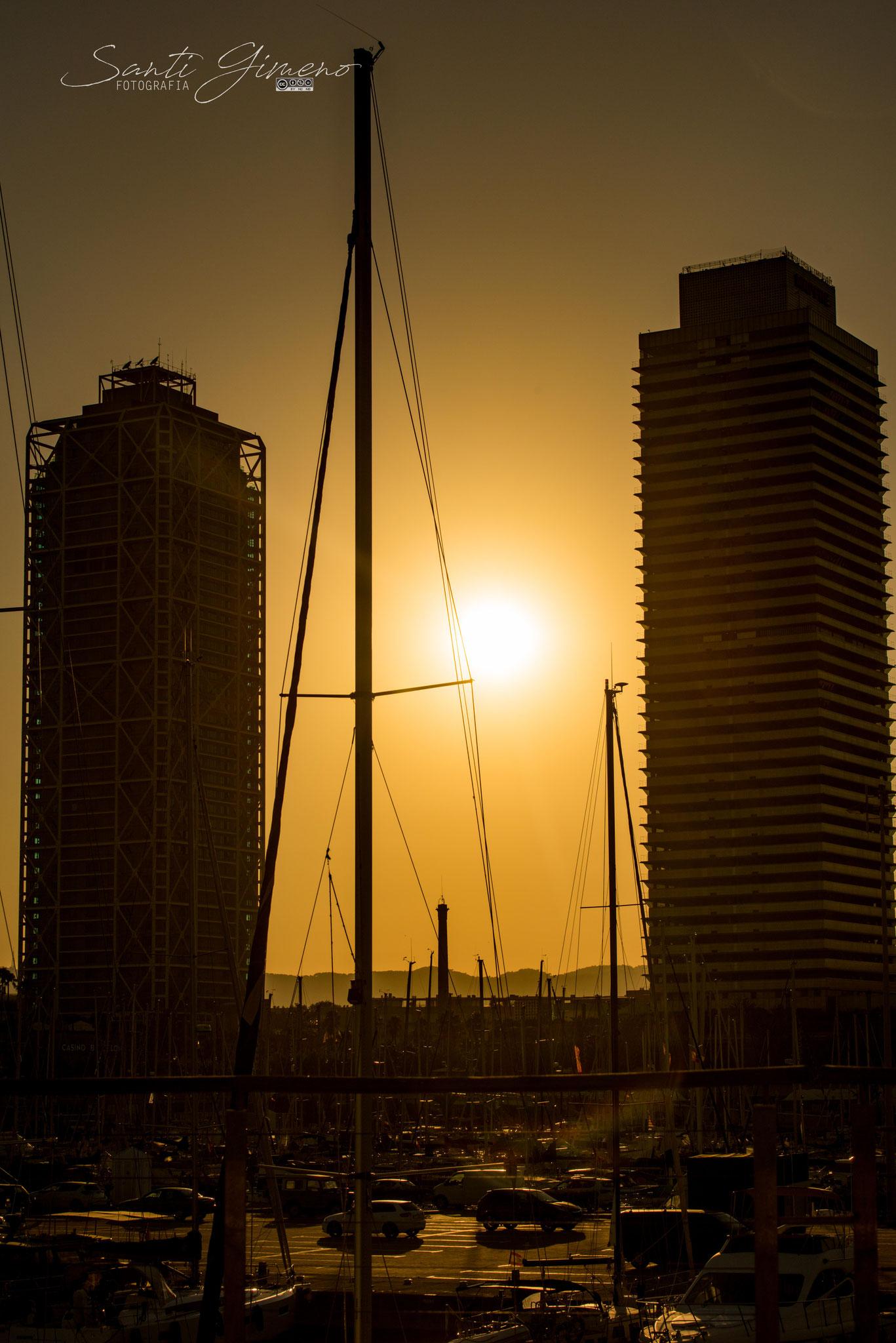Posta de sol a Barcelona (Novembre 2020)