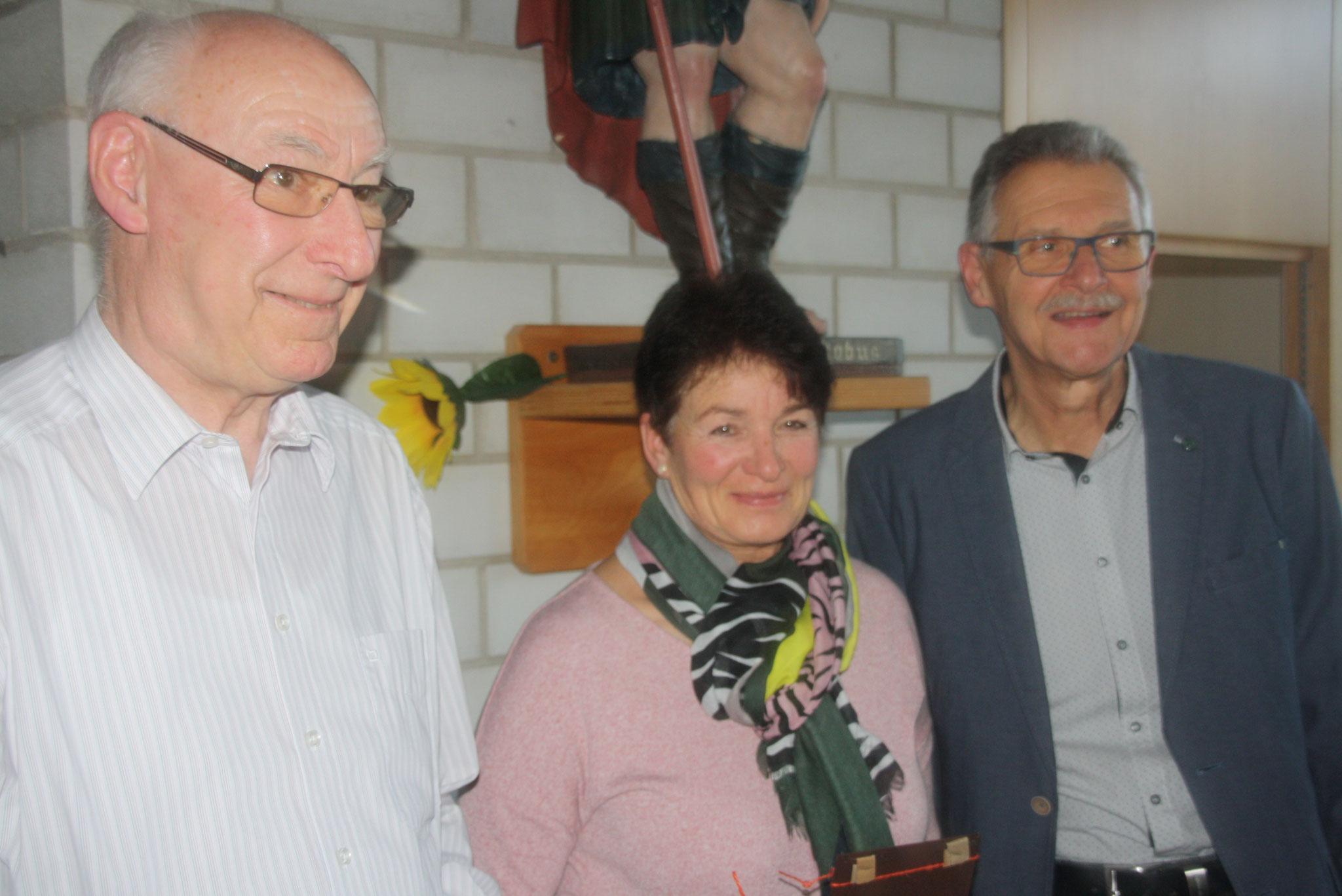 Margret Müller und Karl-Ernst Wizemann als Kassenprüfer verabschiedet