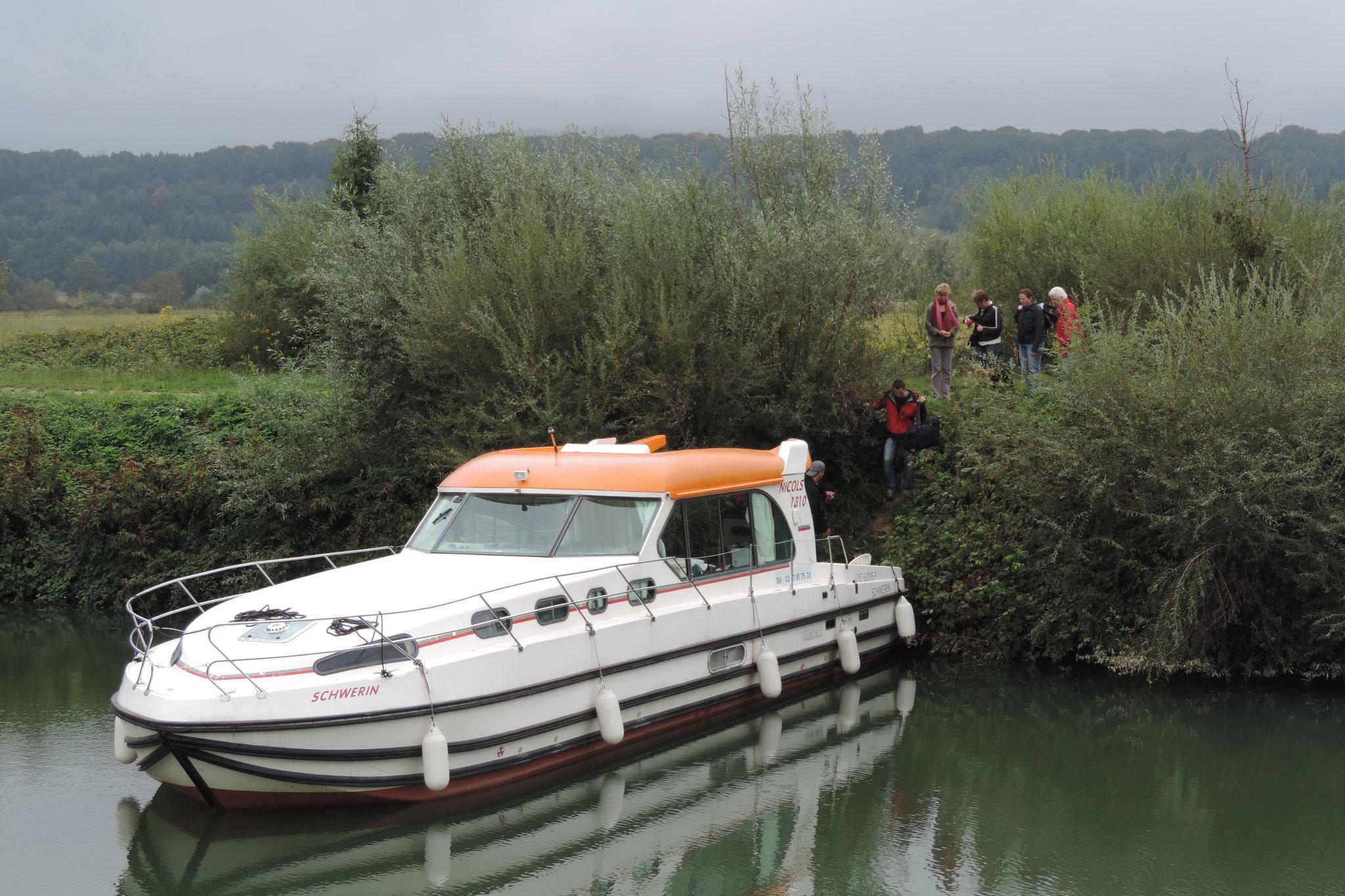 halte fluviale à Osselle