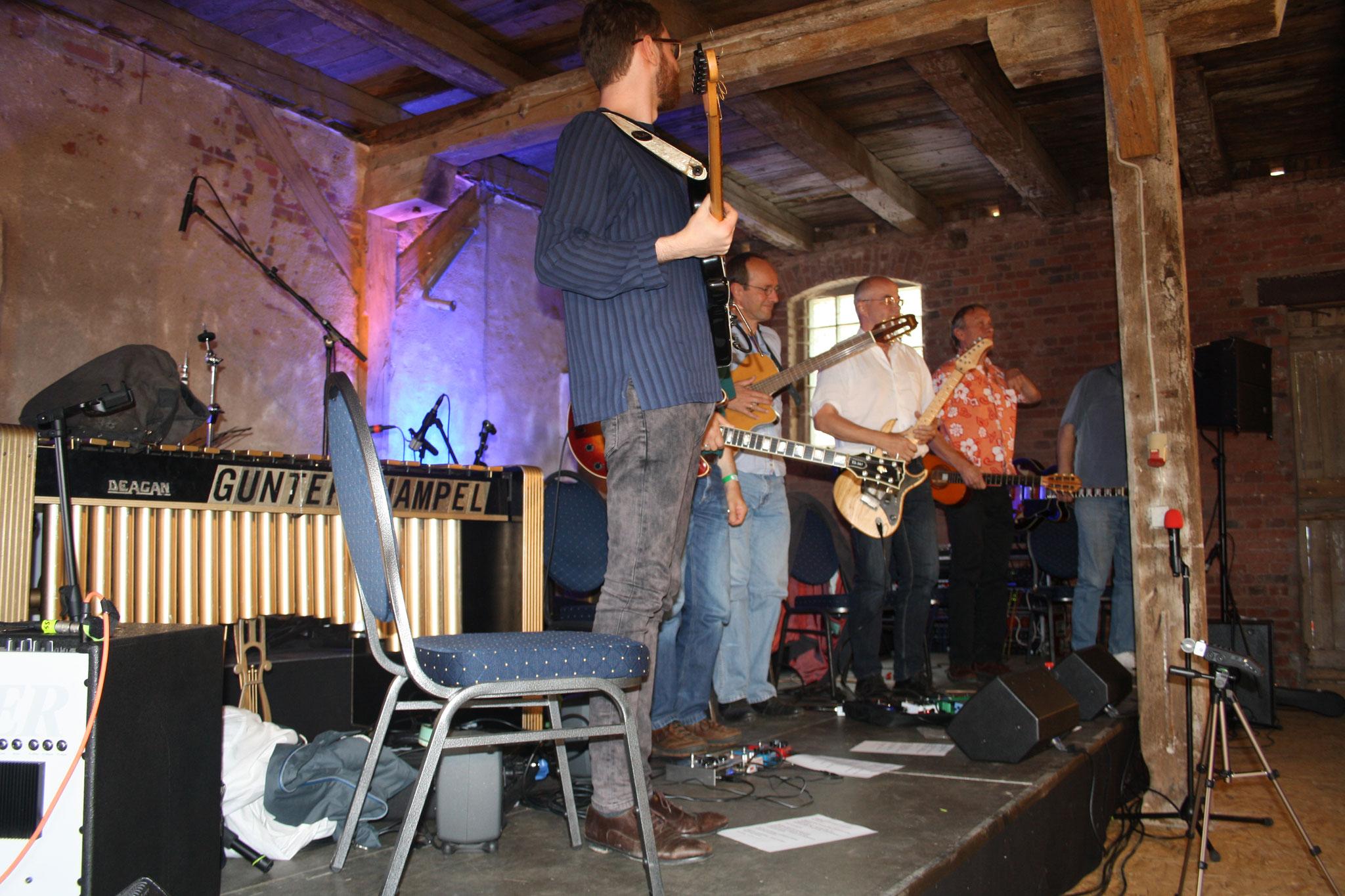 Der Workshop Gitarre mit Andreas Düker...
