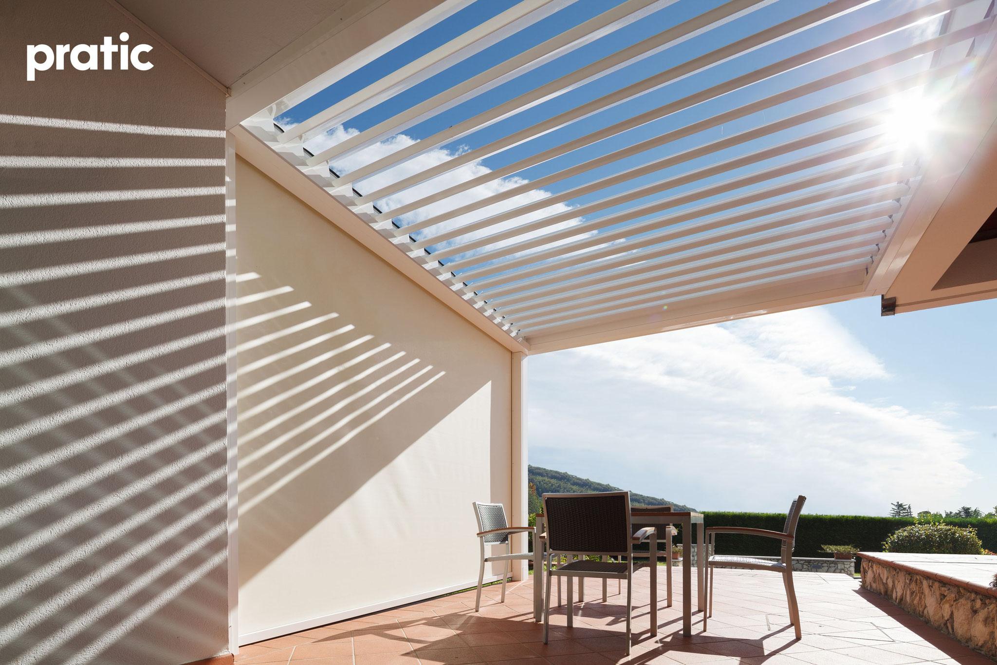 Bioklimatische Pergola für Sonnenschutz