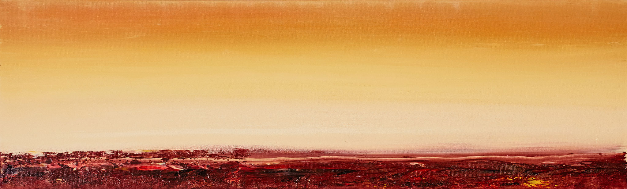 ›Sunrise‹, Acryl auf Leinwand, 100 x 30 cm, 2015