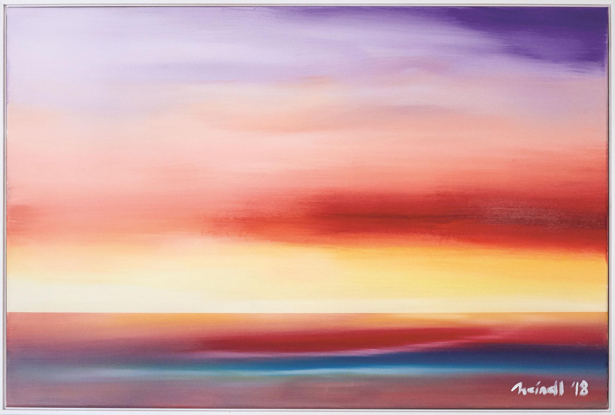 ›Bright Cloud‹, Acryl auf Leinwand, 120 x 80 cm, 2018