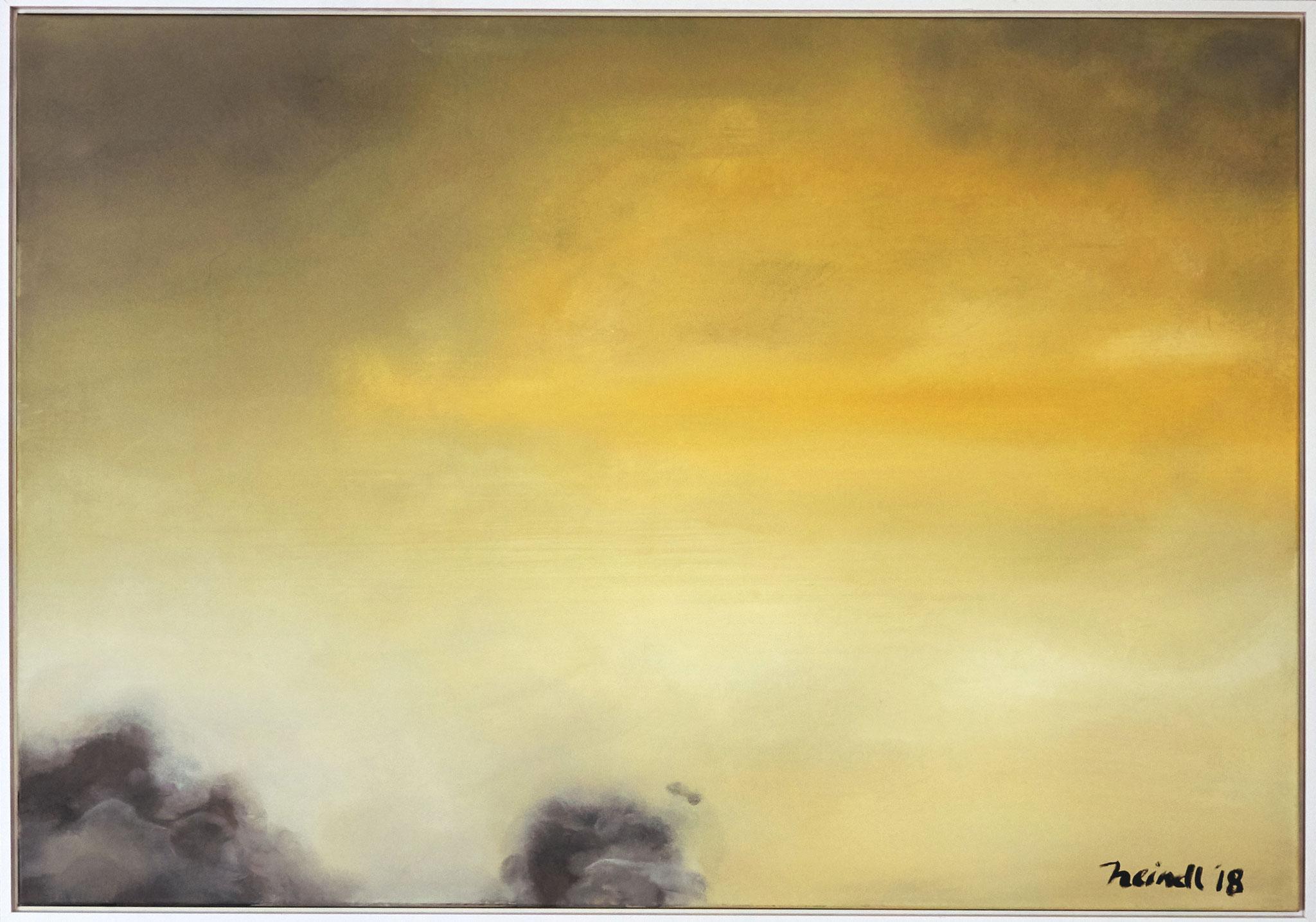 ›Green Yellow‹, Acryl auf Leinwand, 100 x 70 cm, 2018